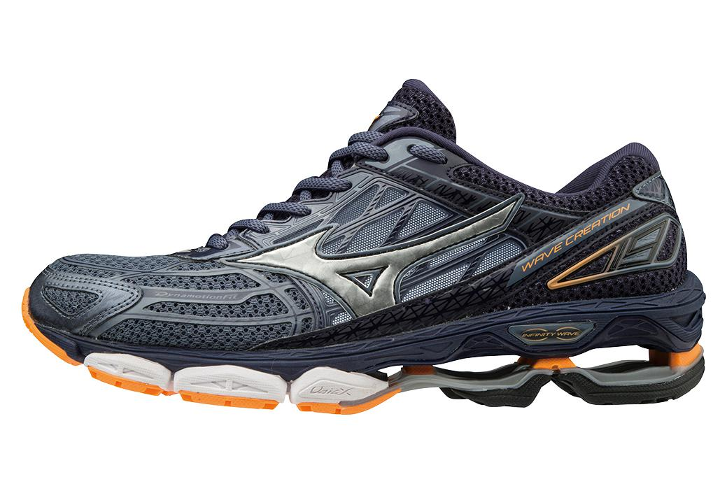 MIZUNO WAVE CREATION 19 Gris Orange Homme  5370e03dbef