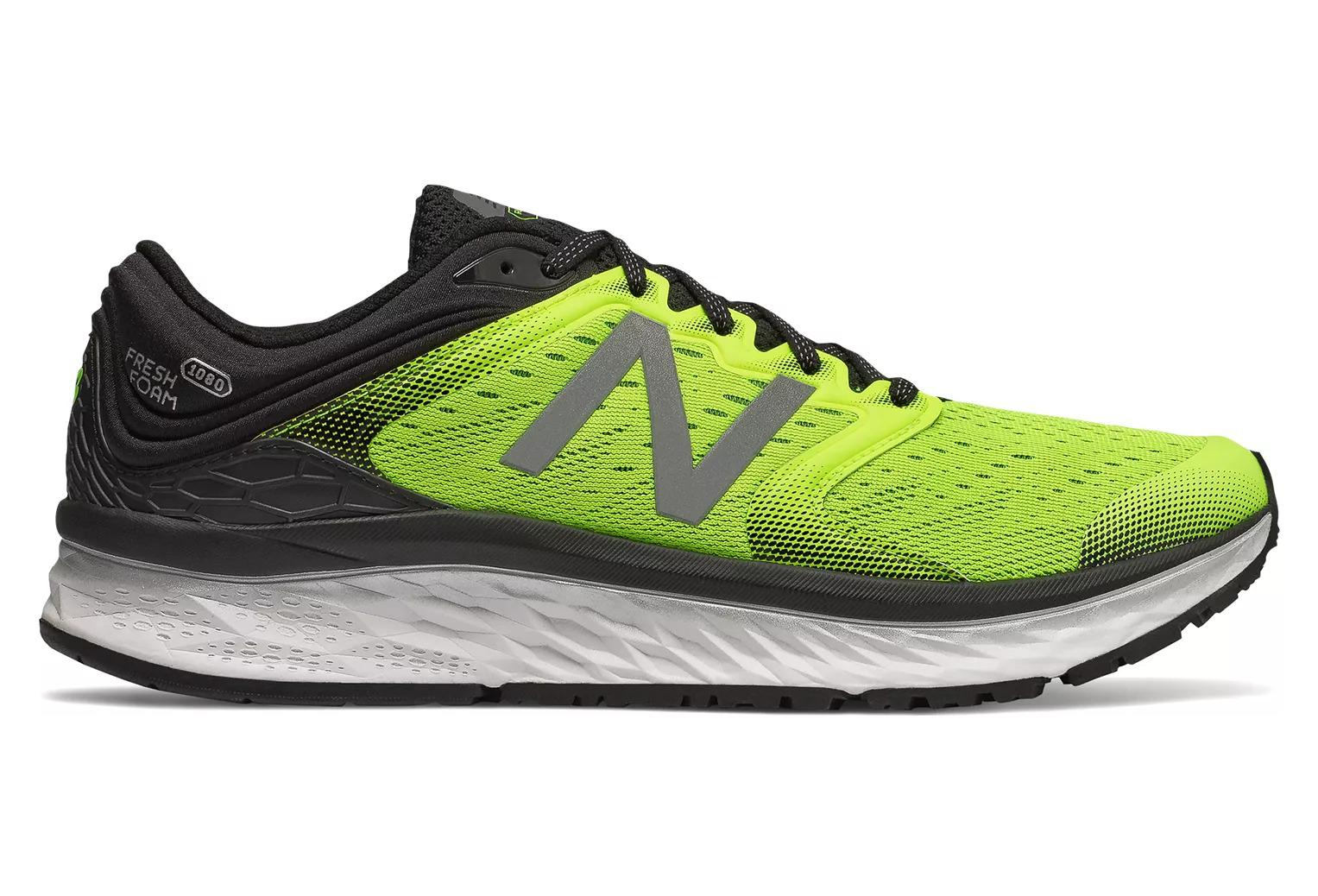 reputable site 57a2f a633c New Balance Fresh Foam 1080 V8 Yellow Black Men