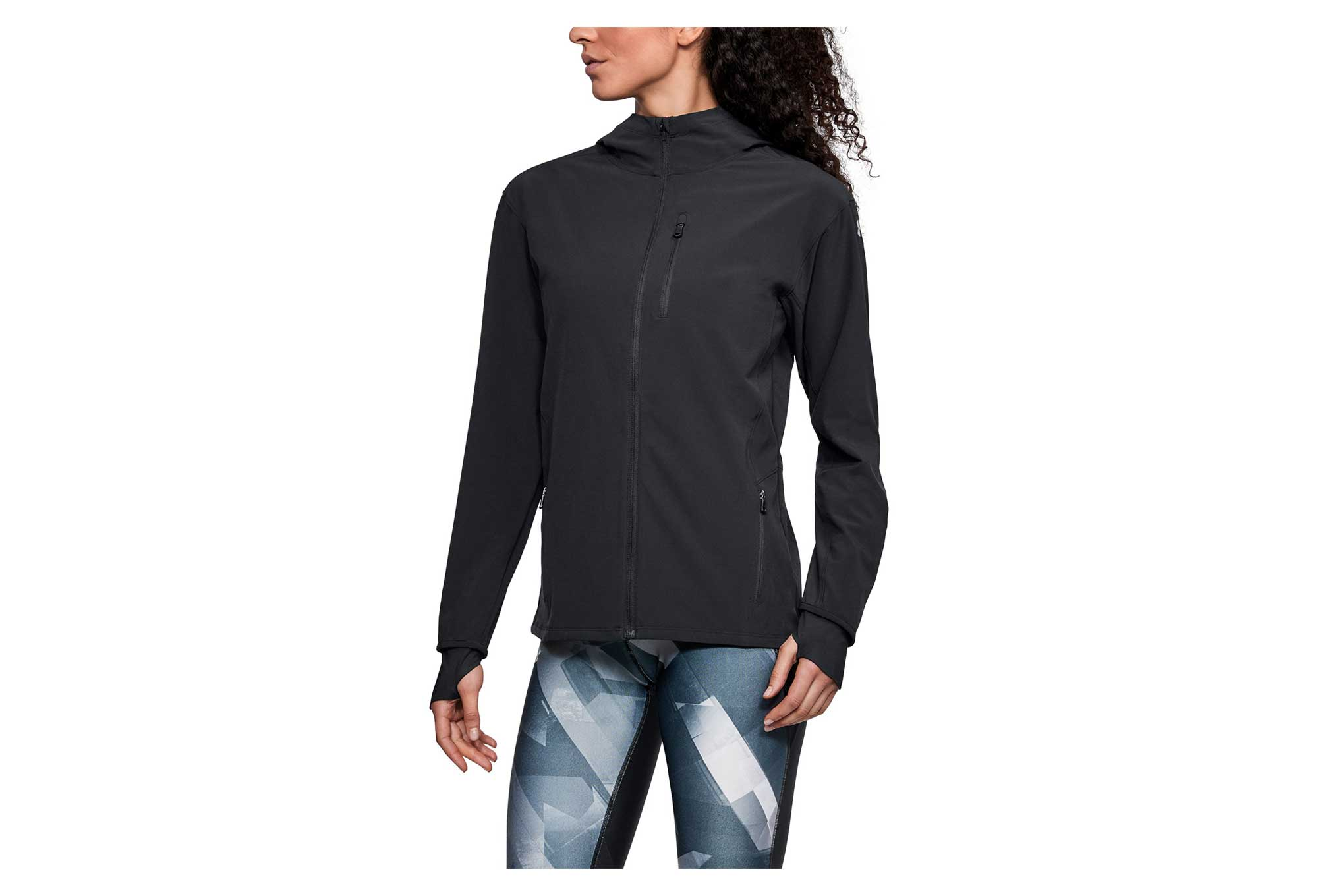 Under Armour Outrun The Storm Women Water Resistant Jacket Black