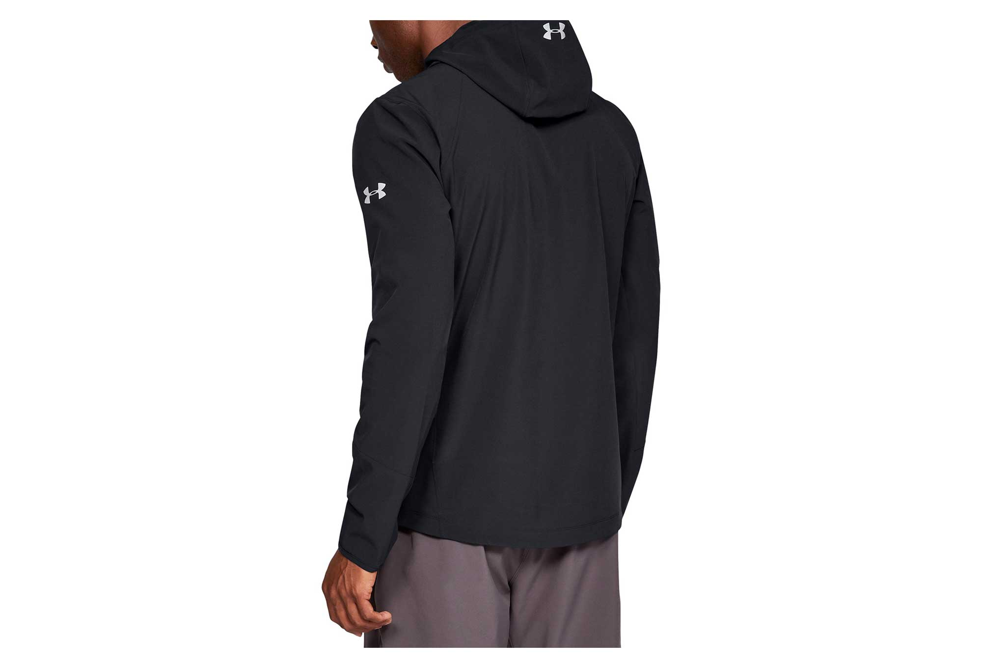 Under Armour Outrun The Storm Water Resistant Jacket Black