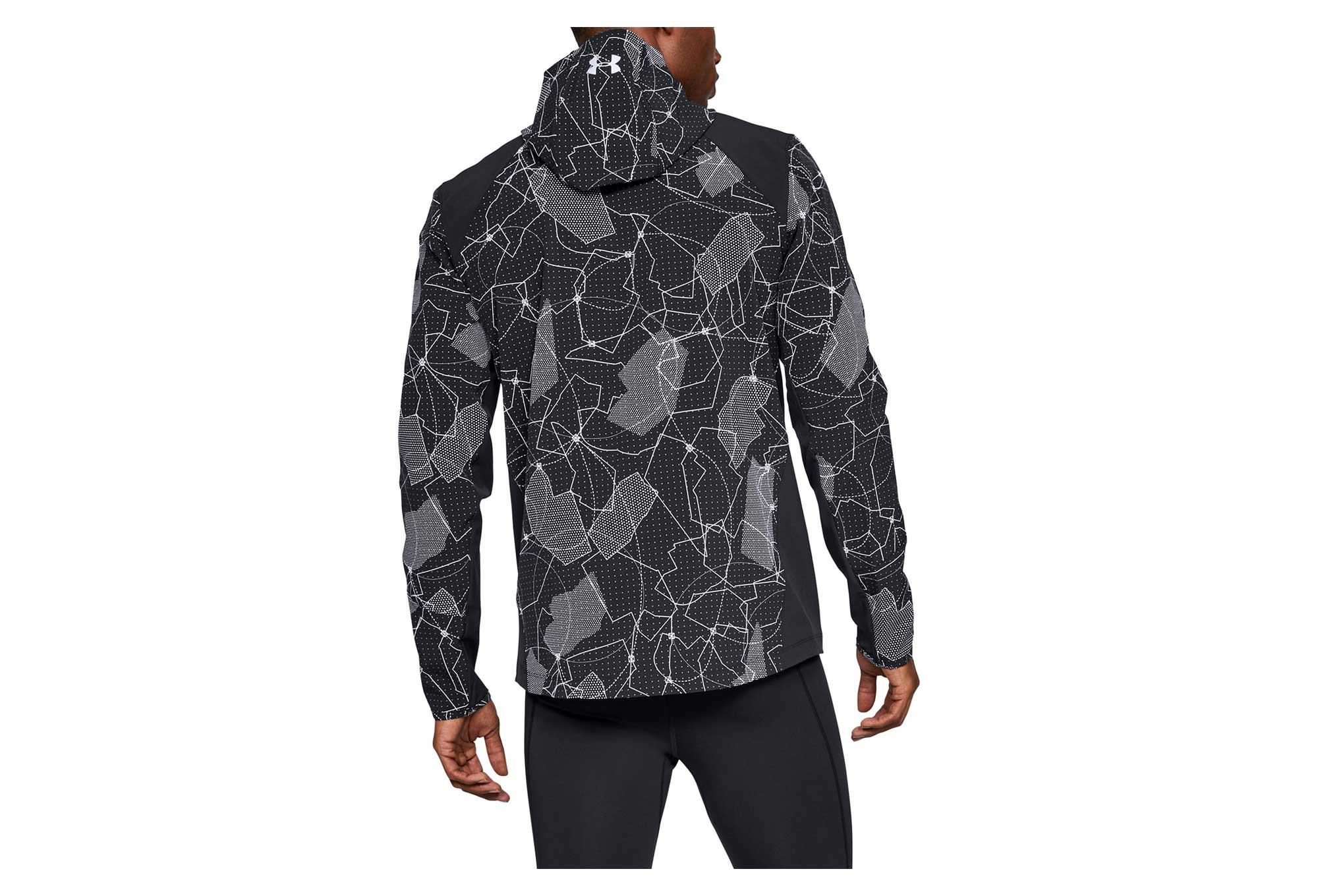 Bolsa Cha gatito  Under Armour Outrun The Storm Printed Water-resistant Jacket Black |  Alltricks.com