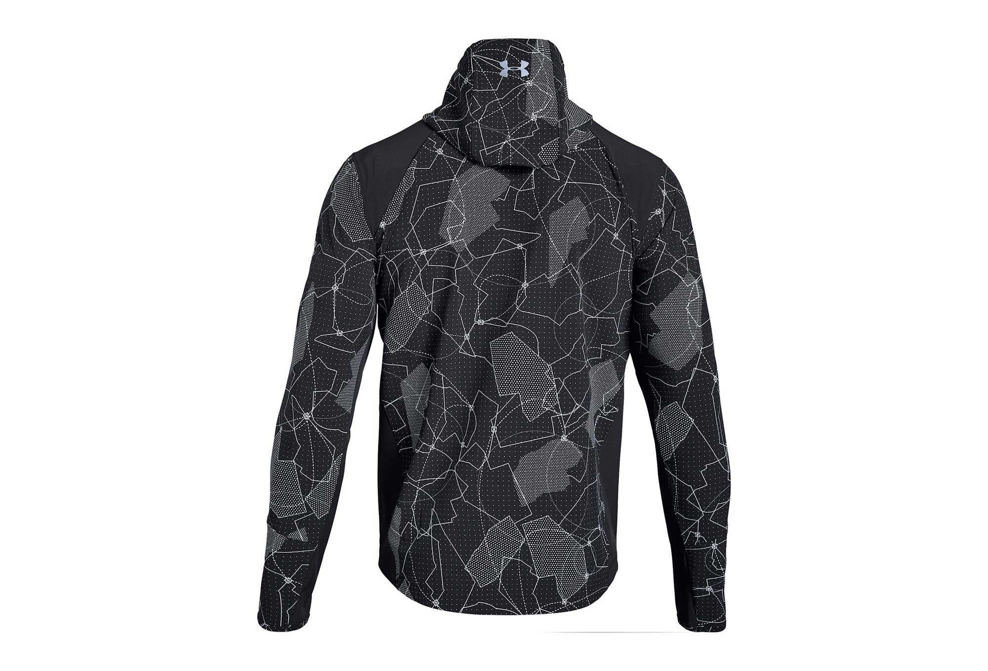 Under Armour Outrun The Storm Printed Water Resistant Jacket Black
