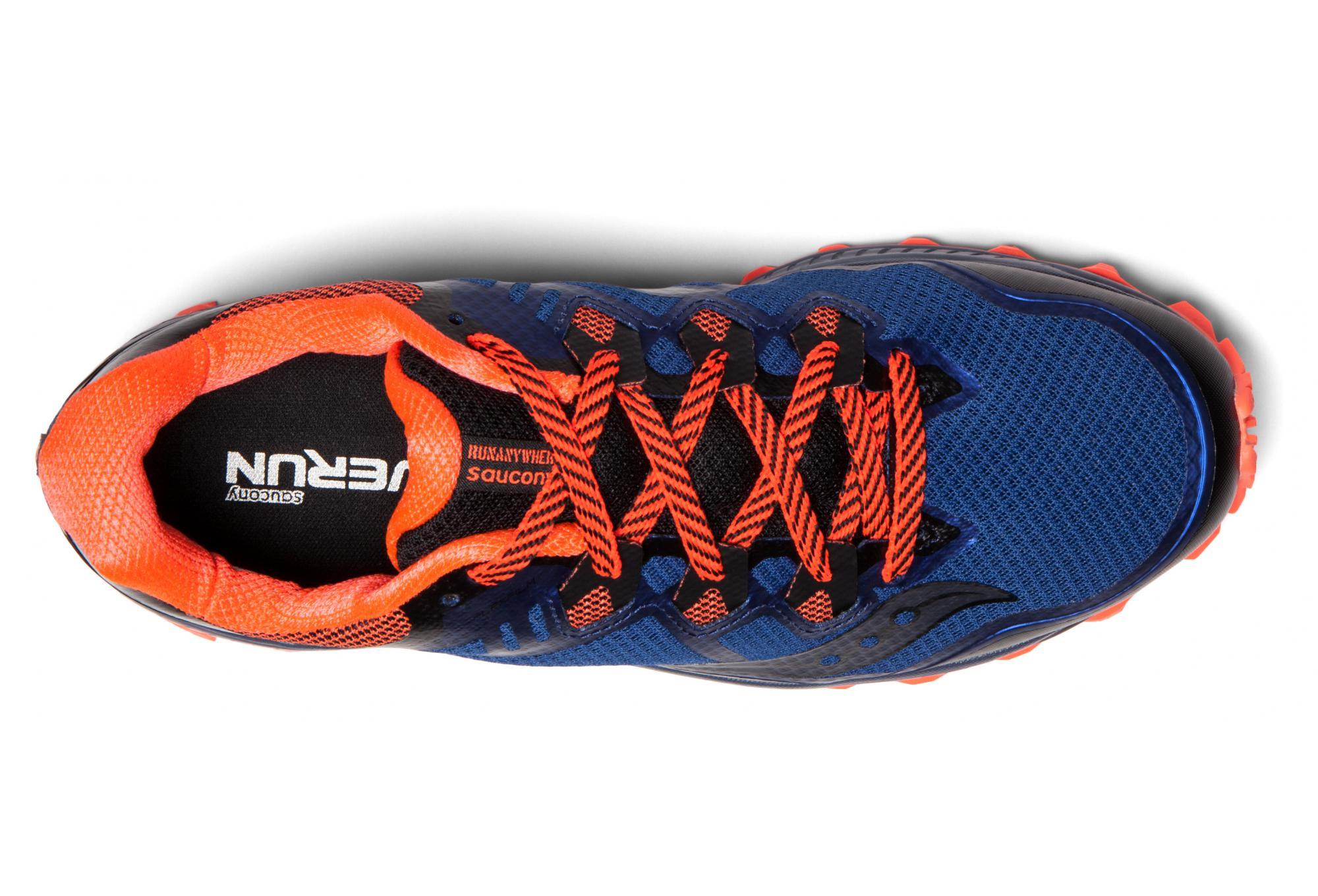 chaussures de trail saucony peregrine 8 noir bleu orange. Black Bedroom Furniture Sets. Home Design Ideas