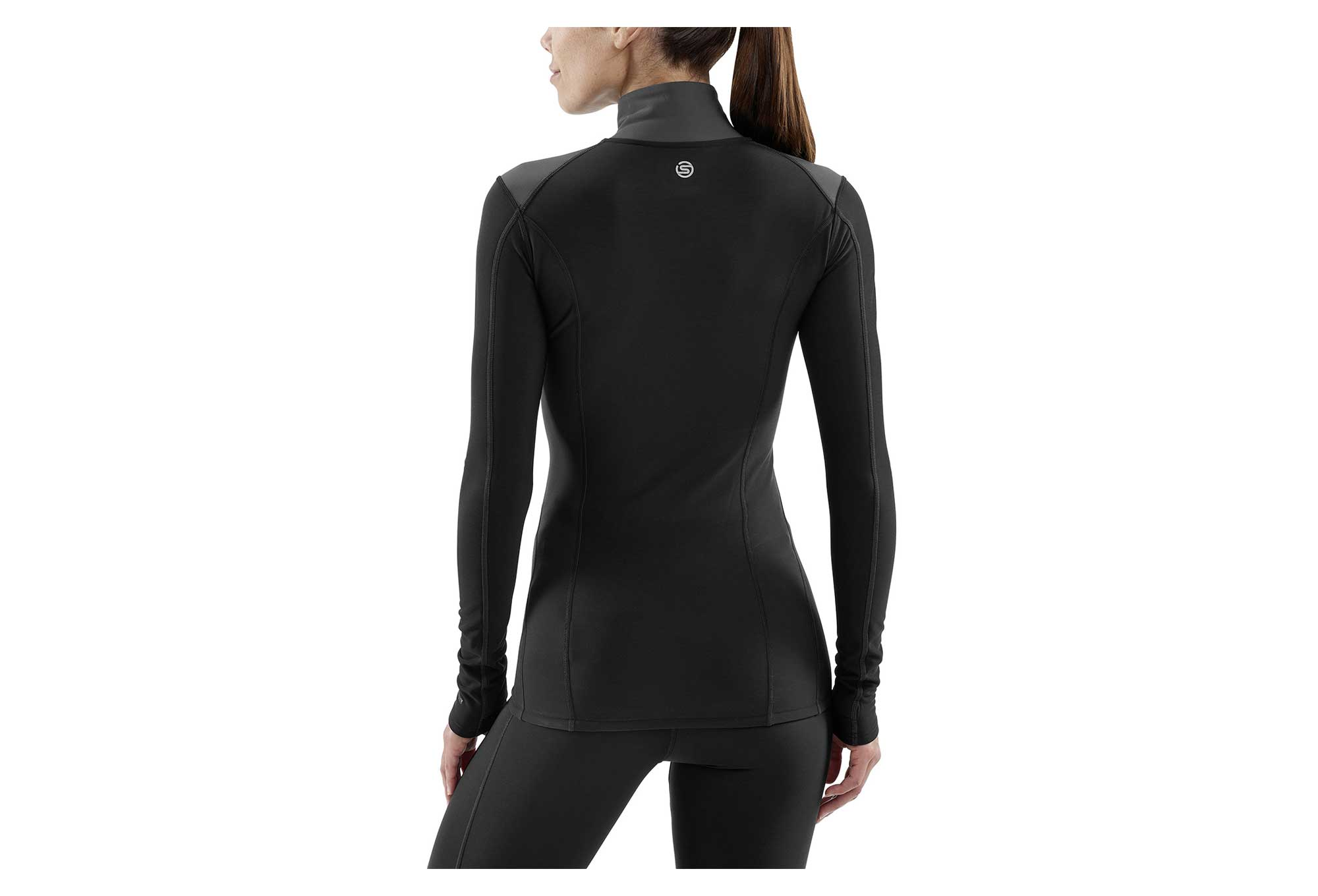 Skins Pull 14 zip DNAmic Thermal Black Women