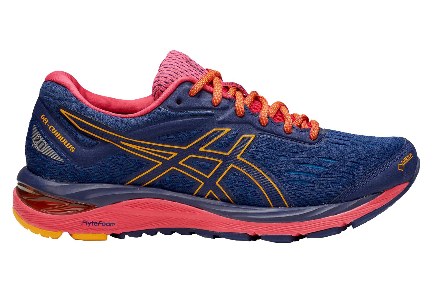online retailer 596e2 363eb Asics Gel-Cumulus 20 G-TX Blue Red Orange Women