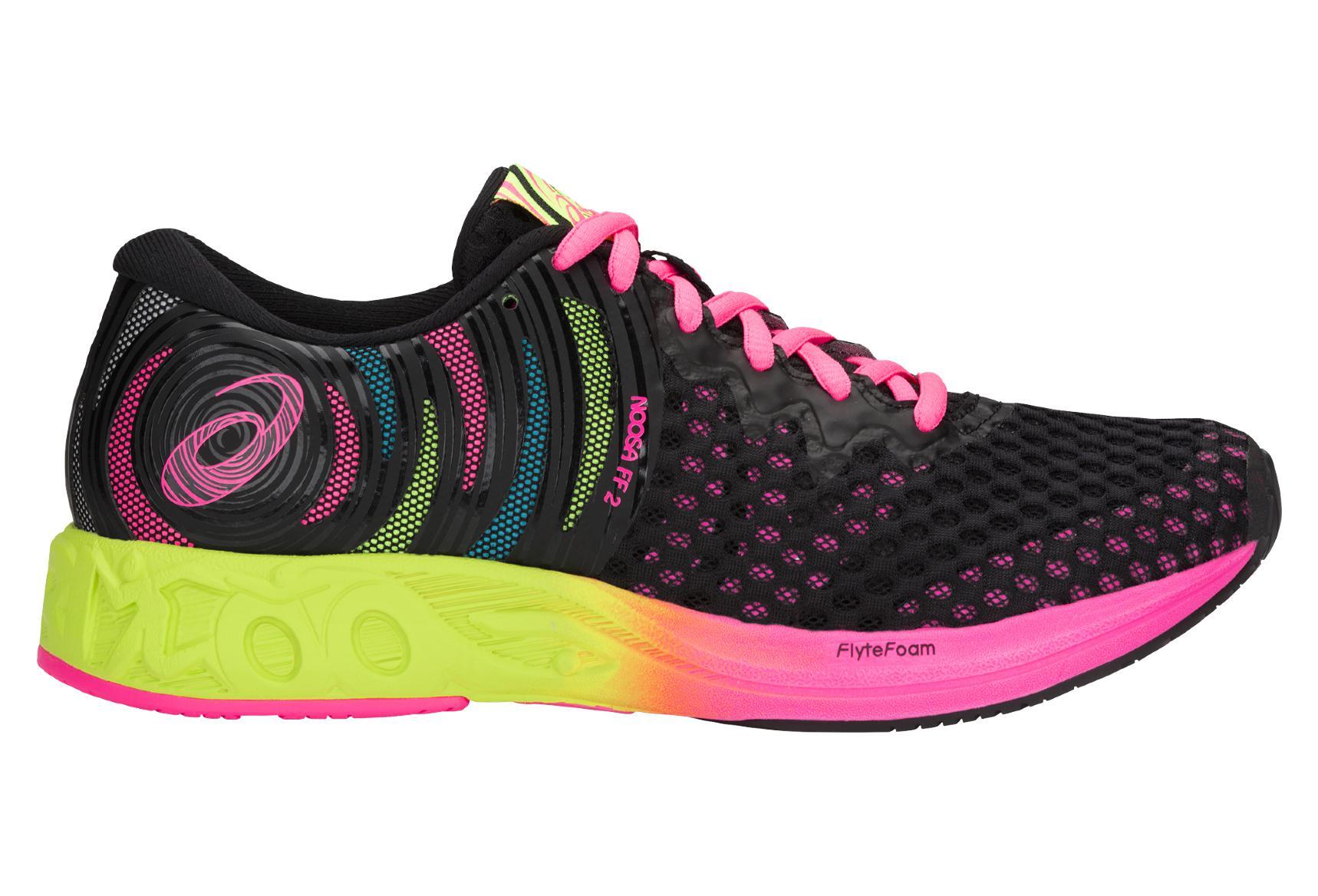 chaussure running asics femme rose