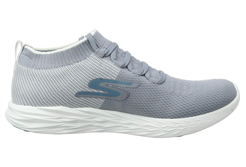 6 Gray Skechers Go Run White 2DEH9WIY