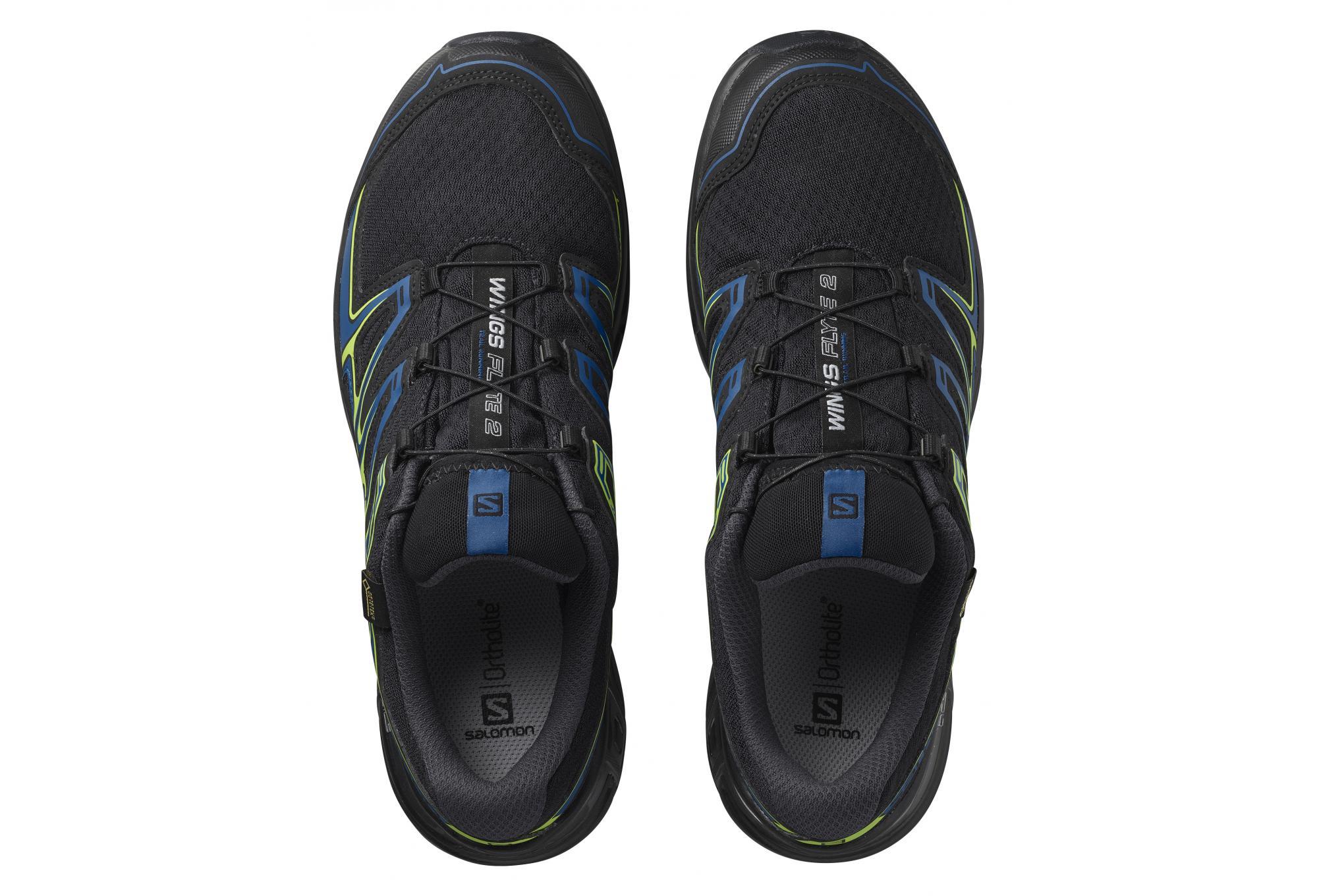 Paire de Chaussures Salomon Wings Flyte 2 GTX Noir Bleu Jaune