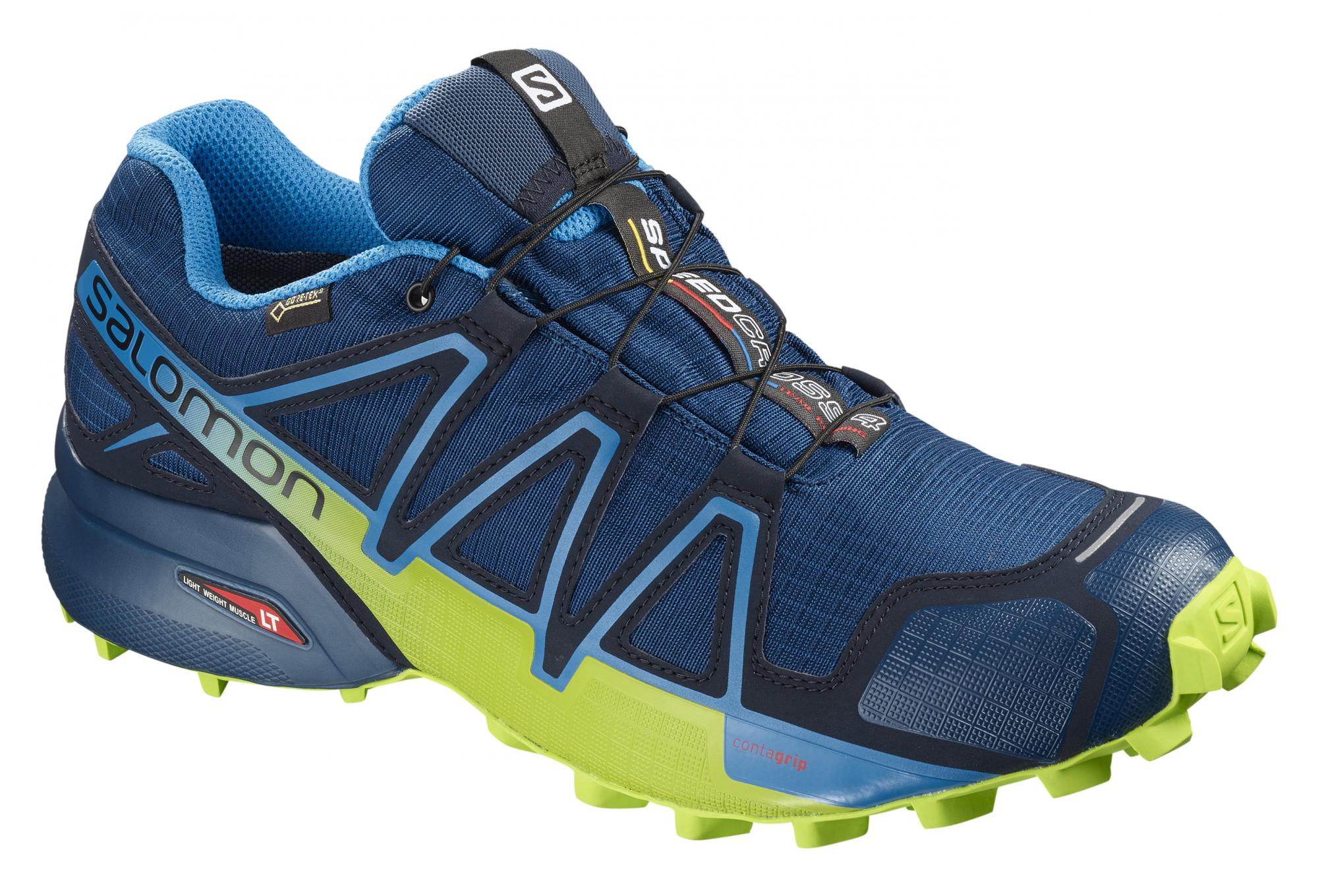 Salomon Speedcross 4 Gtx Shoes Blue Yellow