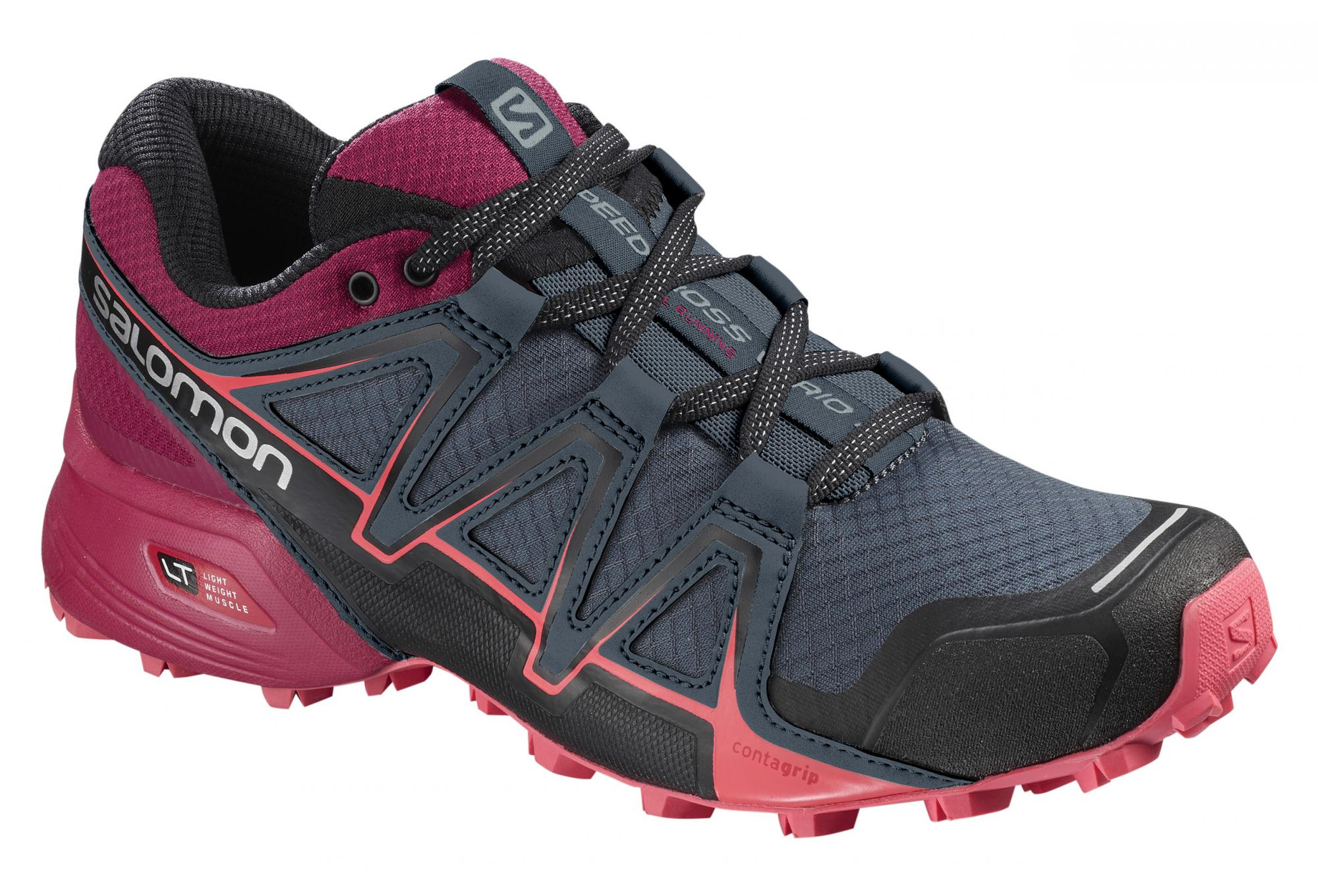 Salomon Speedcross Vario 2 Women's Shoes Blue Red