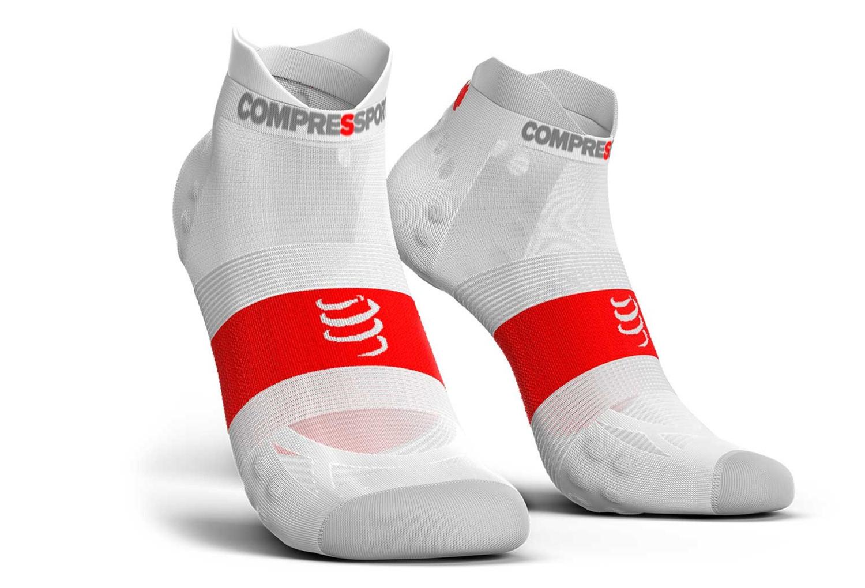 Compressport ProRacing V3.0 Run Ultralight Socks Low Cut White Red ... d9983b4da55