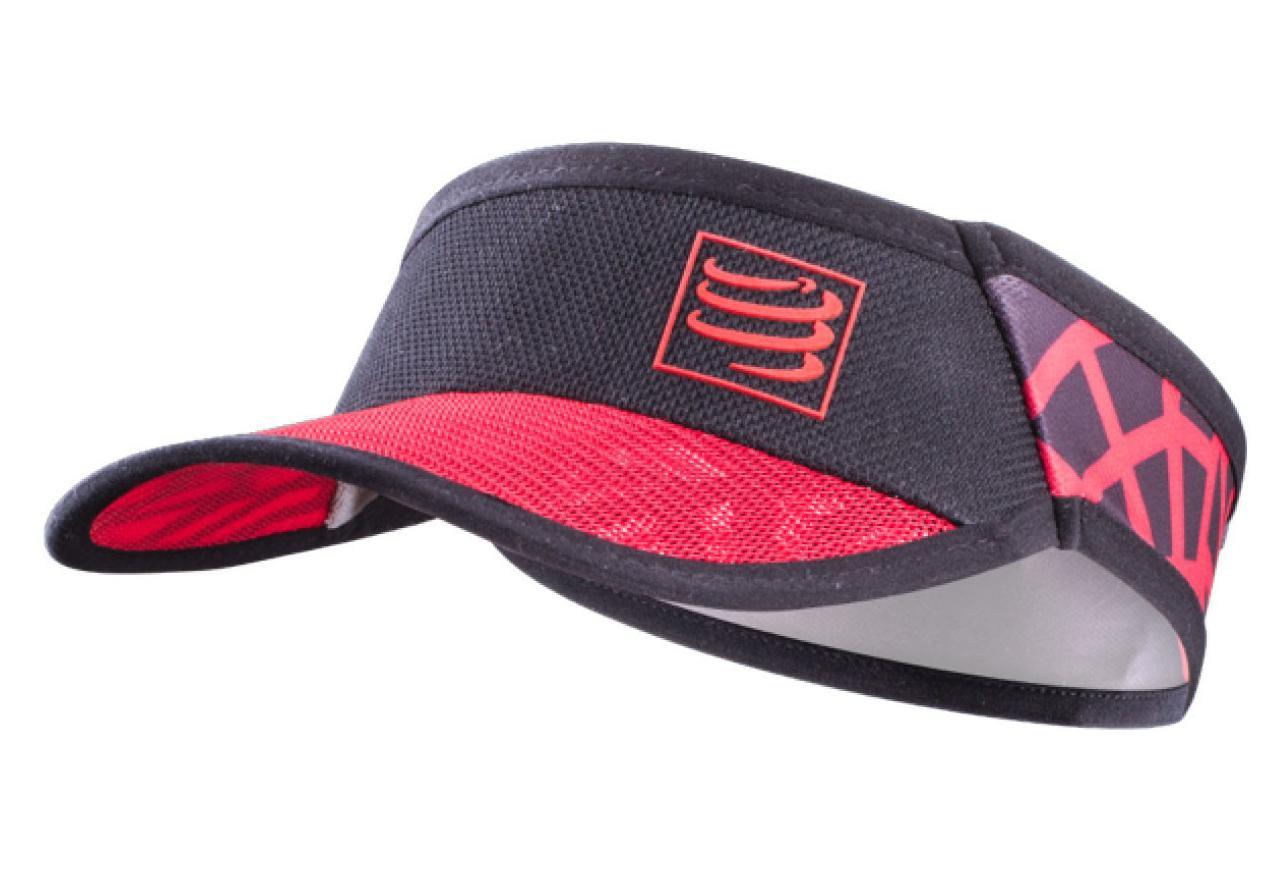 0da0684c17e71a Compressport Spiderweb Ultralight Visor Black Red | Alltricks.com