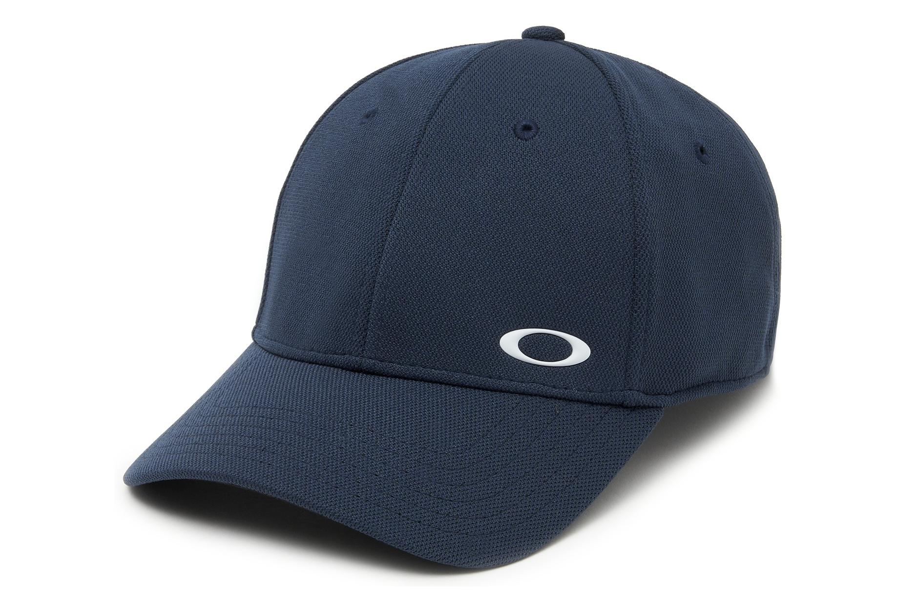 199c3244bb642 Oakley Stretch Fit Hats Silicon Ellipse Navy Blue