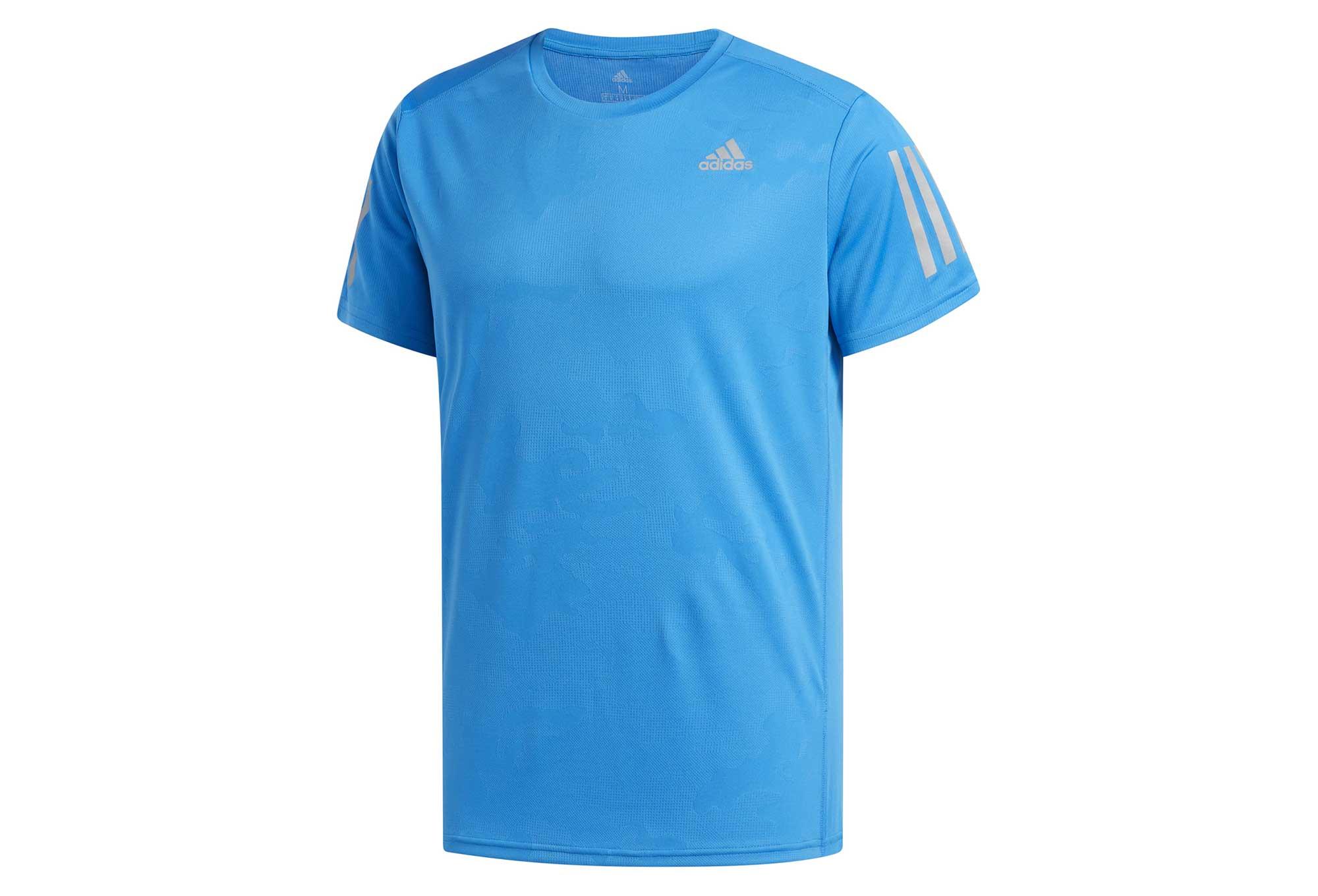 adidas running Response Short Sleeves Jersey Light Blue ...