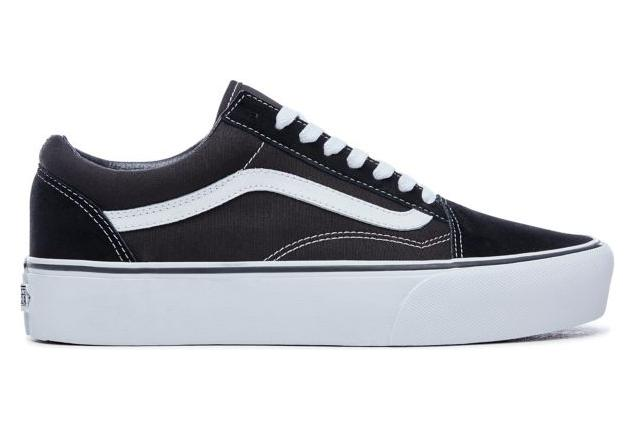 Chaussures Vans UA Old Skool Platform Noir / Blanc | Alltricks.fr