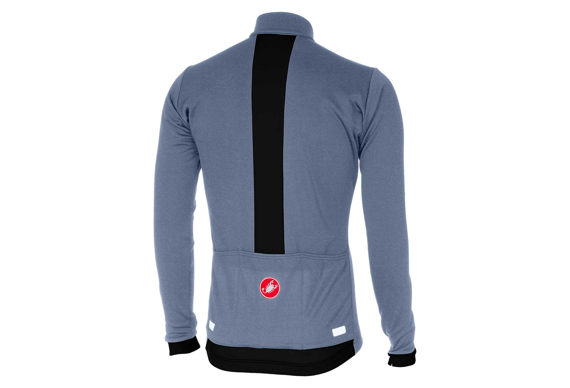 Castelli Fondo Long Sleeves Jersey Moonlight Blue Black  a4f97e95b