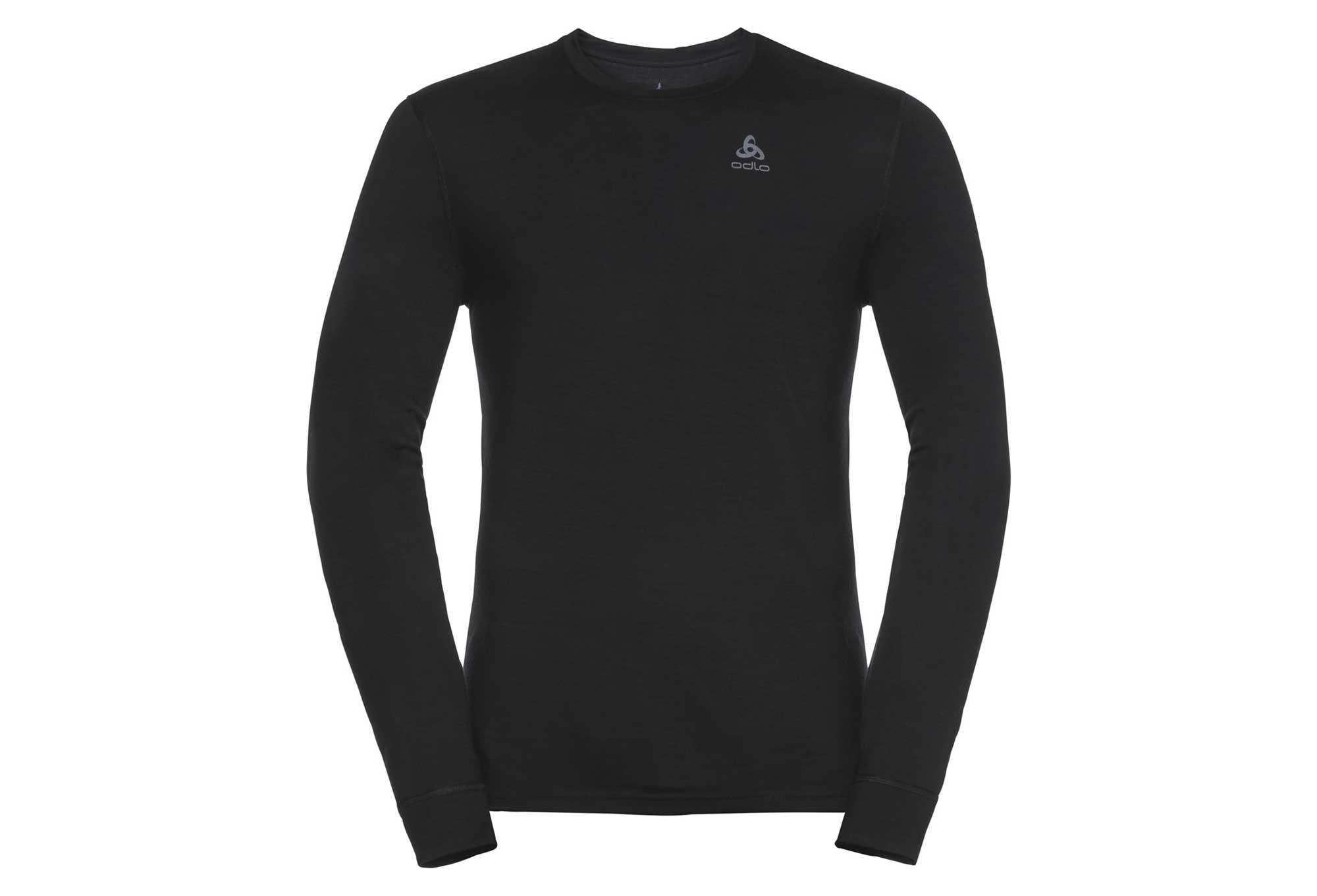 cd0106190a507 T-shirt Manches Longues Odlo NATURAL 100% MERINO Gris melange ...