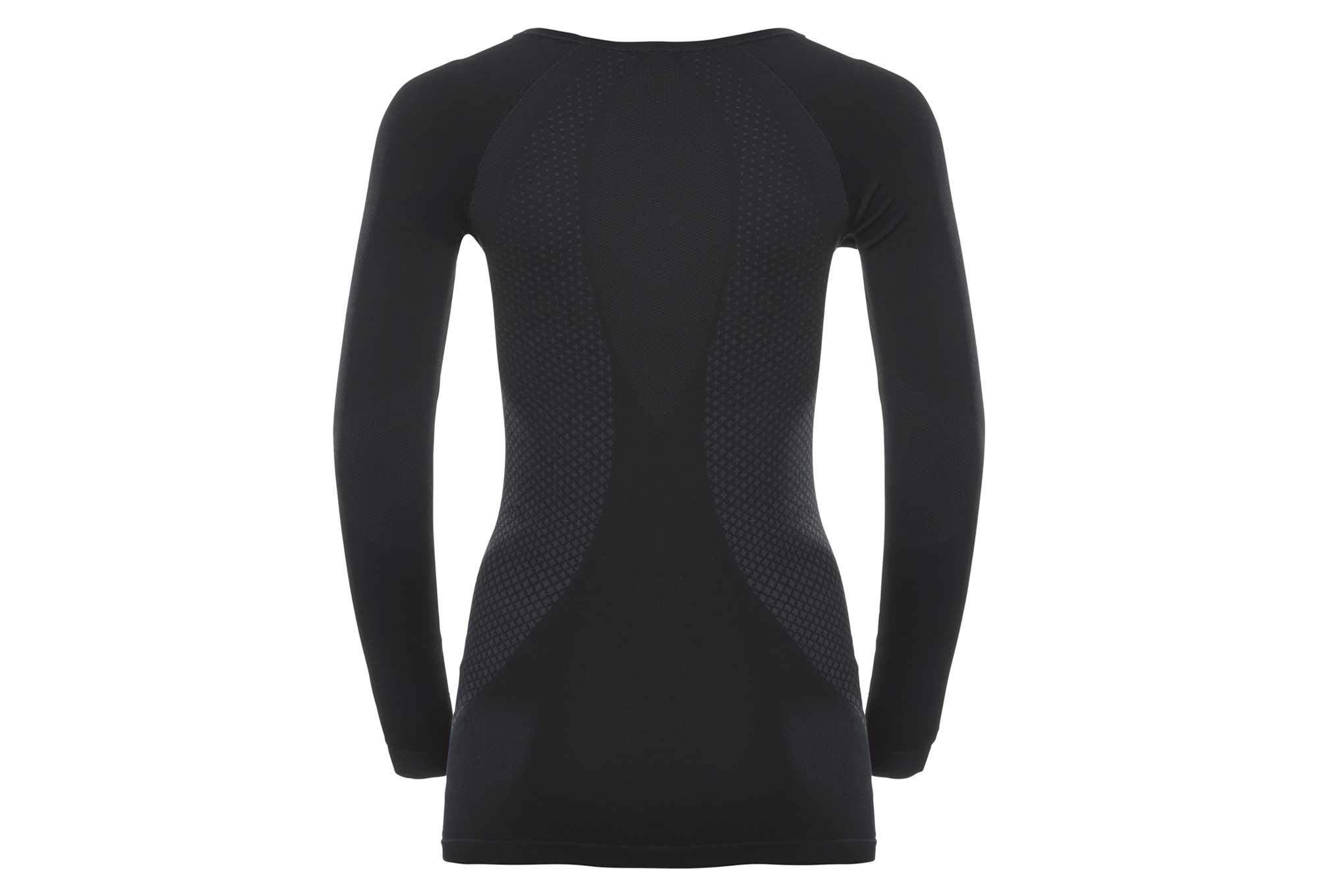 Odlo sous-v/êtement /à Manches Longues et col V pour Femme Noir Noir XL