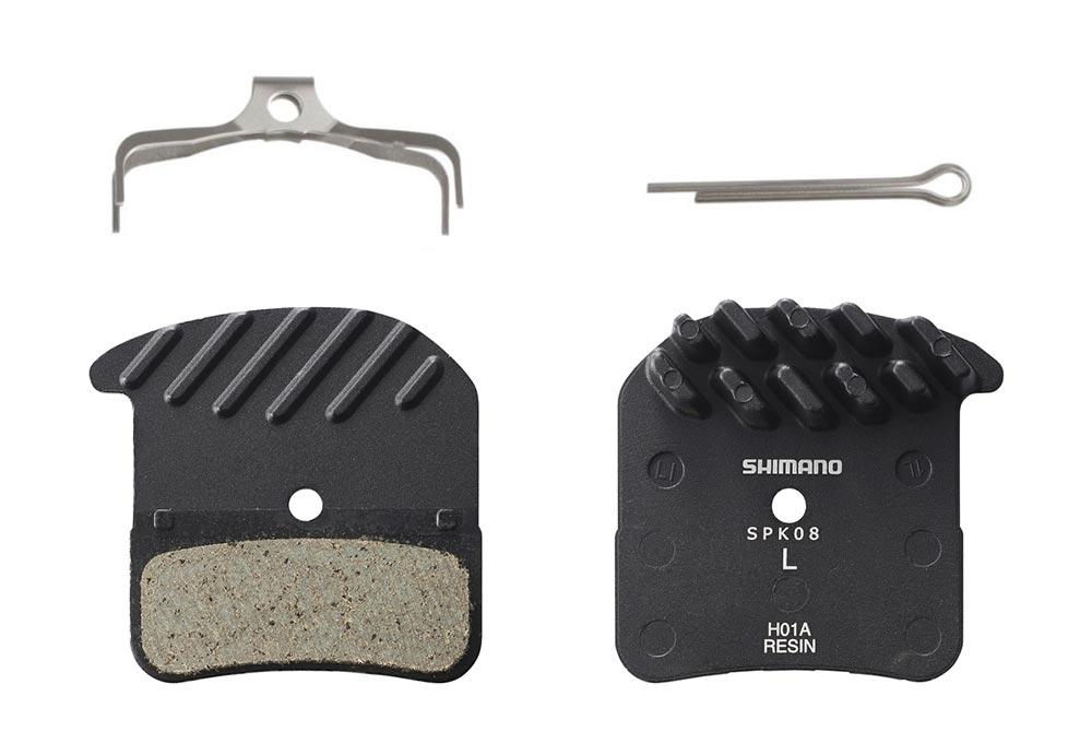 Shimano Disc Brake Replacement Pads H01A Saint M820 Resin Fin Pad Set w Spring