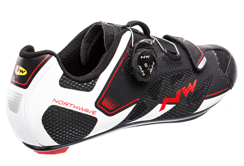 Scarpe NORTHWAVE CORSA SONIC 2 White//Black//Red//ROAD SHOES NORTHWAVE SONIC 2
