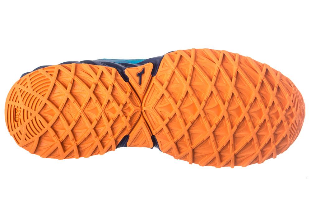 bf60aebdee7 MIZUNO WAVE IBUKI GTX Bleu Orange Femme