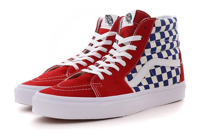 df8f066b57d0d2 Vans x Marvel Shoes SK8-HI Checkboard Red   Blue   White