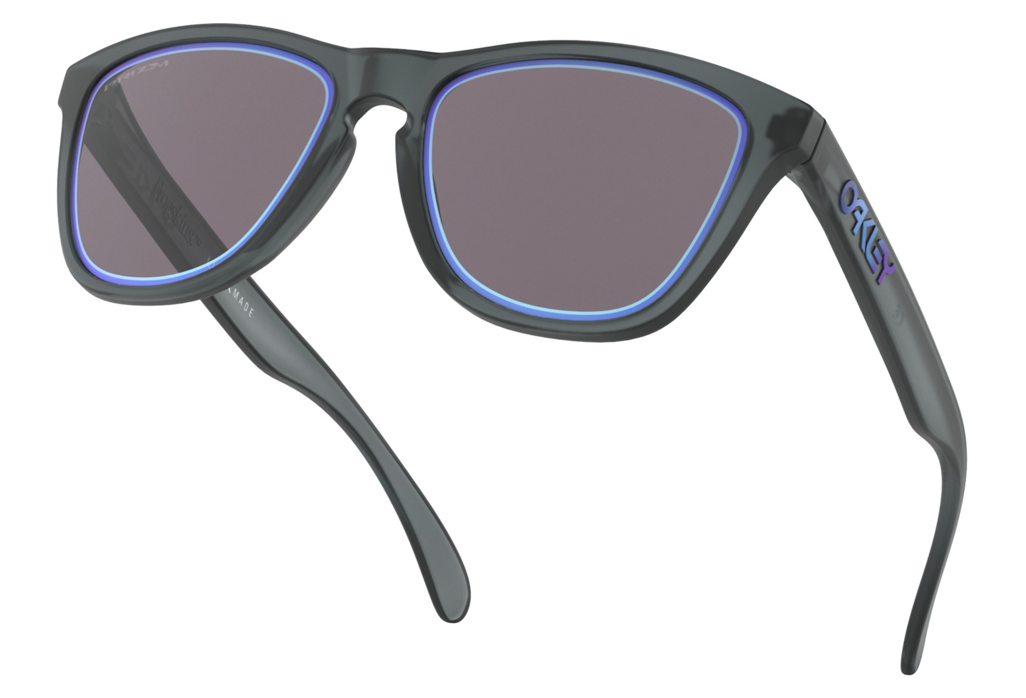 3300f5b2fb Oakley Frogskins Fire and Ice Collection Glasses Matte Crystal Black    Prizm Grey OO9013-E355