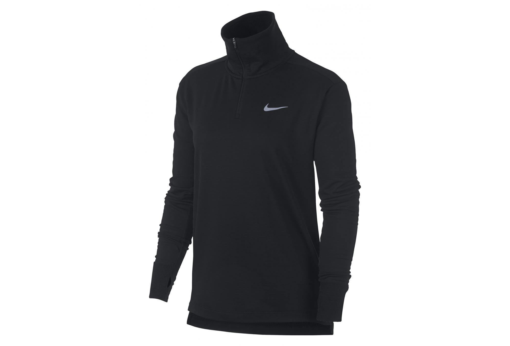 719fb5ab6 Nike Therma Sphere Element Women's Long Sleeves Zip Jersey Black |  Alltricks.com