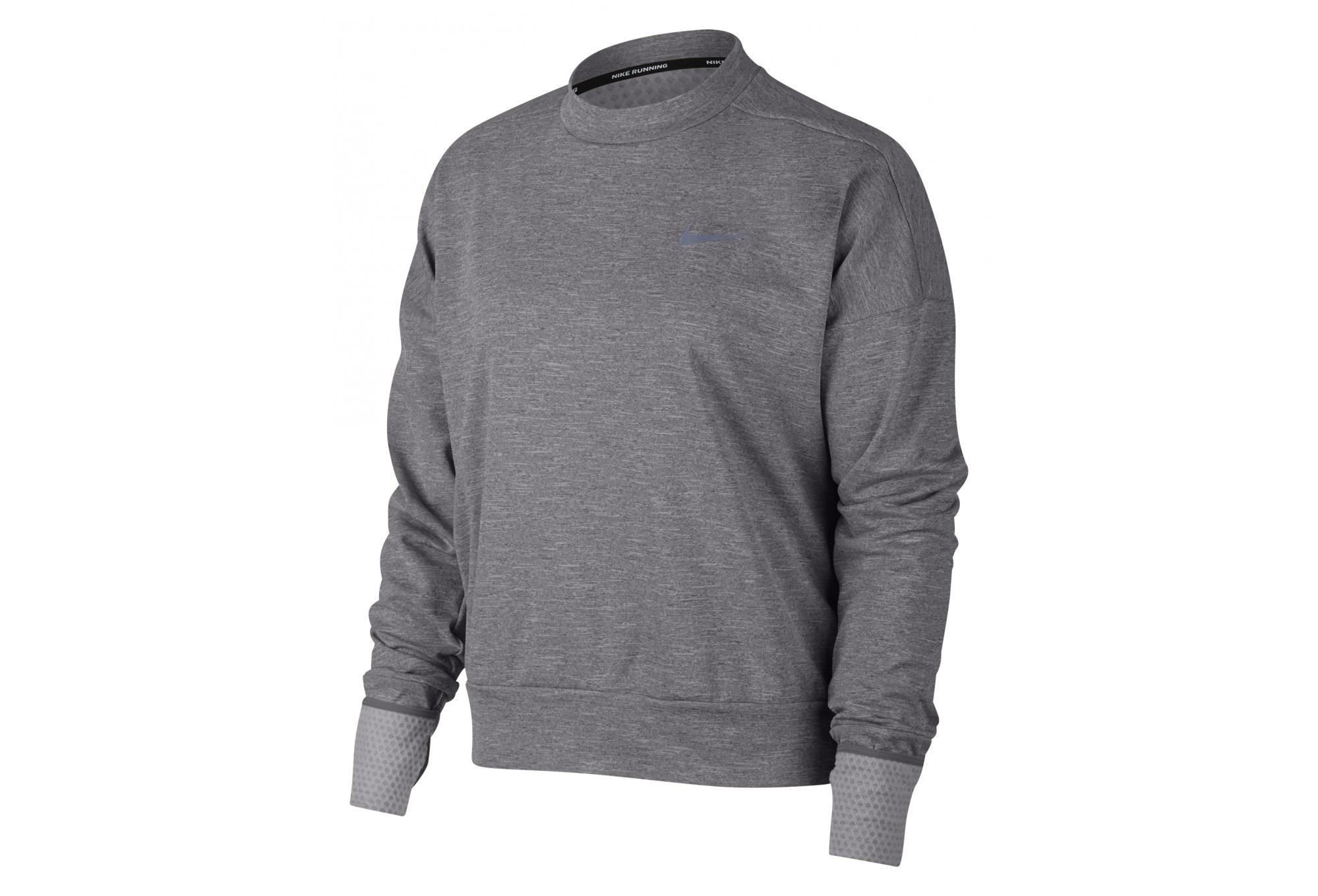 49a5ba22f Nike Therma Sphere Elet Women's Long Sleeves Jersey Grey | Alltricks.com