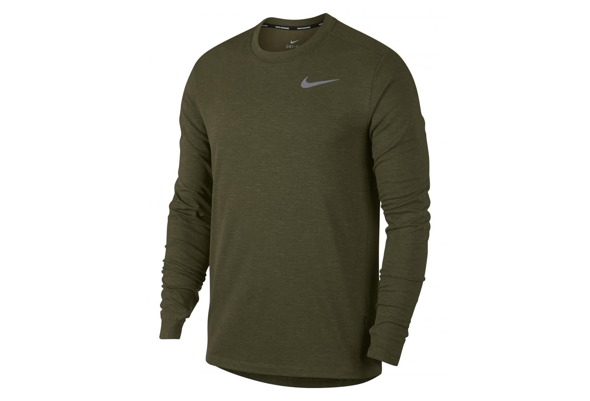 Maillot Manches Longues Nike Therma Sphere Element Vert Kaki