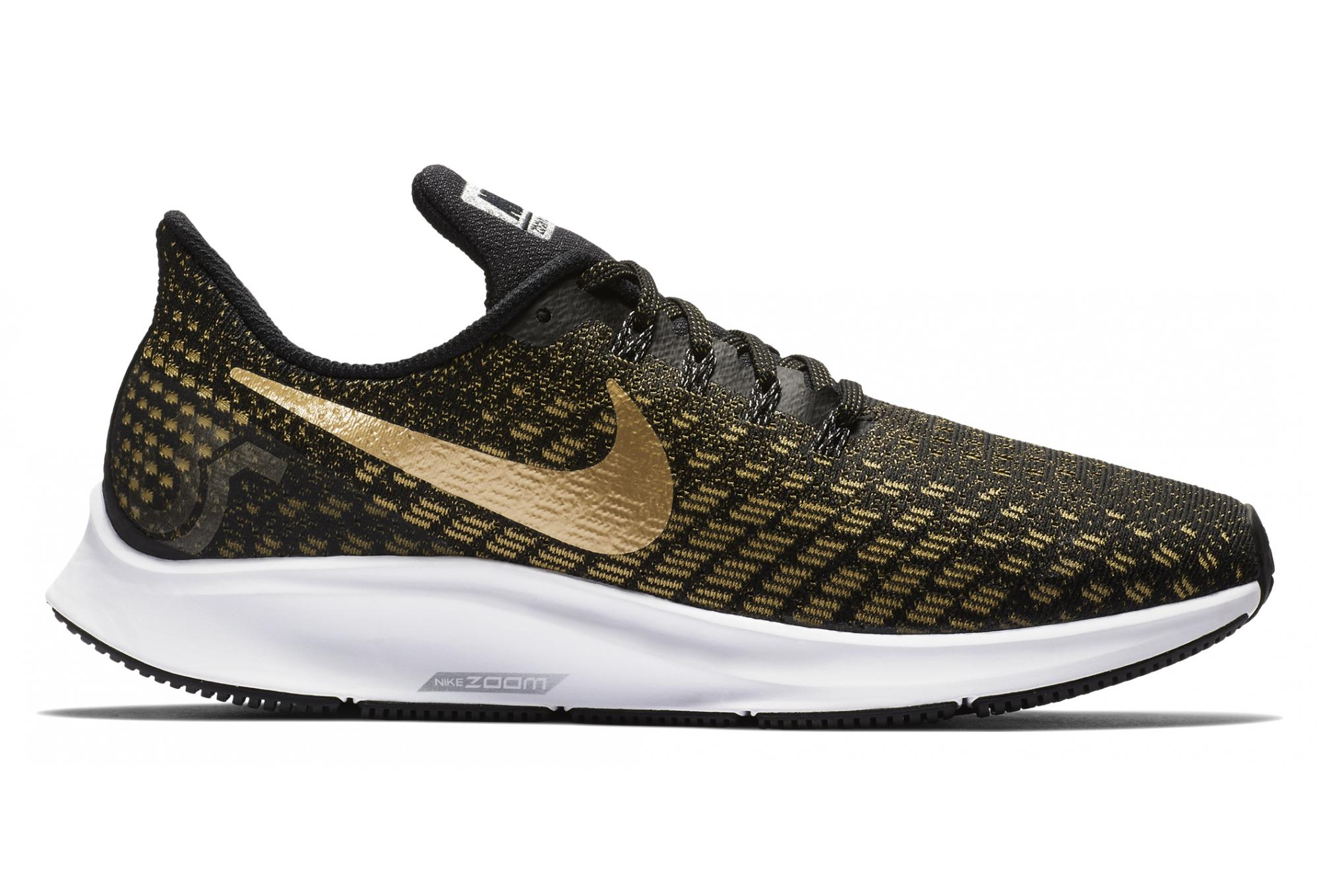 2489059c5213 Nike Air Zoom Pegasus 35 Women's Shoes Black Gold | Alltricks.com