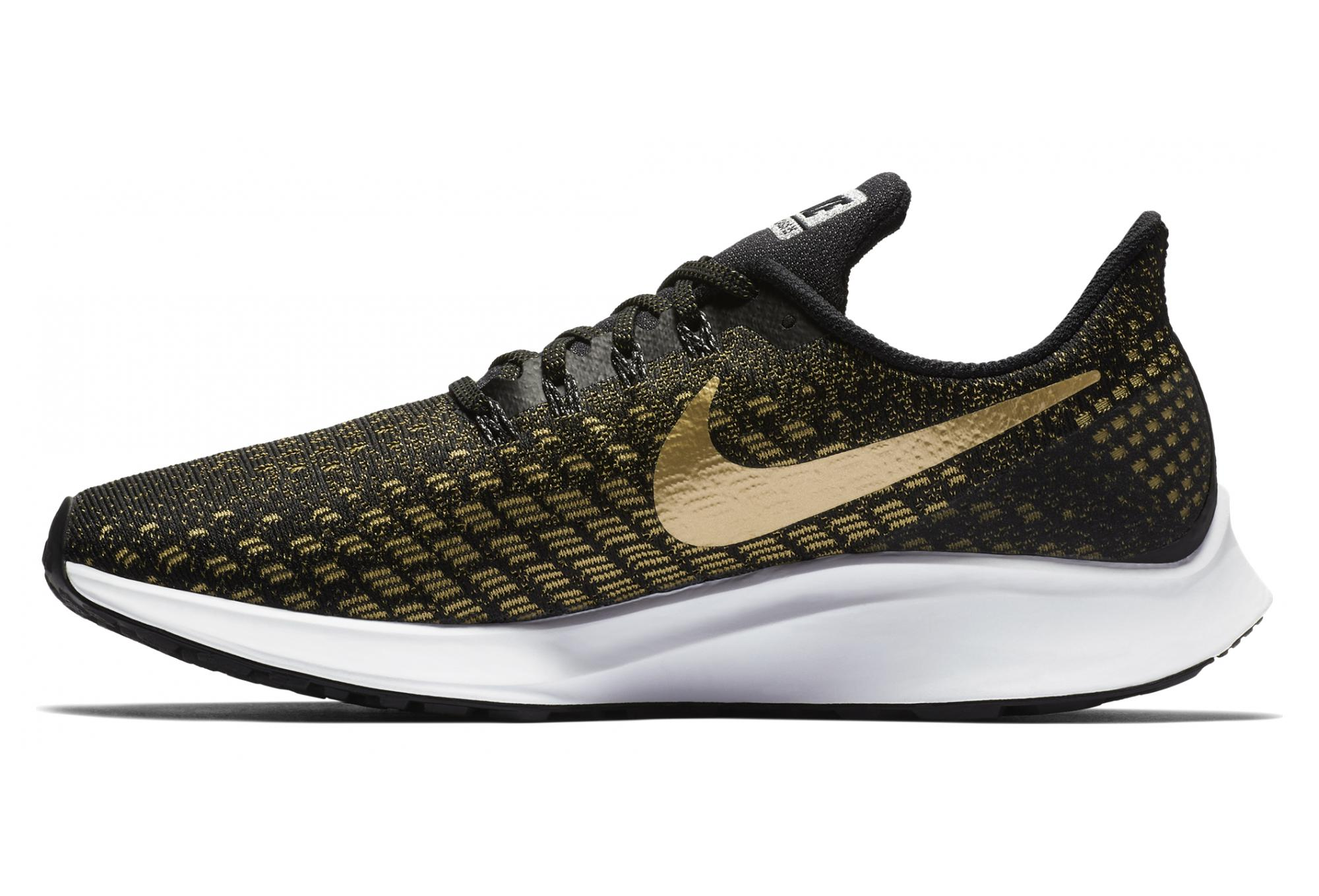 2f025f774 Nike Air Zoom Pegasus 35 Women's Shoes Black Gold | Alltricks.com