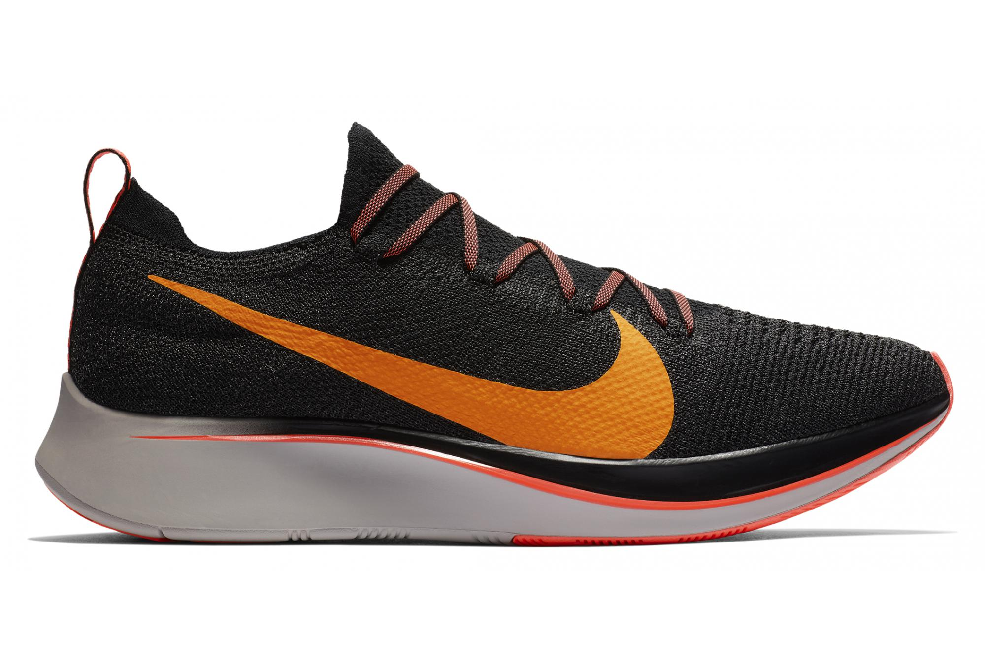 5ad27b19b8da85 Nike Zoom Fly Flyknit Shoes Black Orange Men