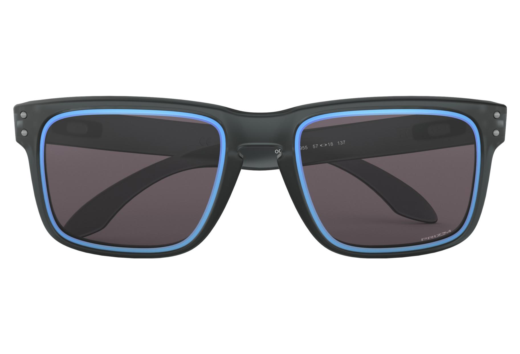 fbe2ba708a Oakley Sunglasses Holbrook Fire and Ice Collection Matte Crystal Black    Prizm Grey   Ref.