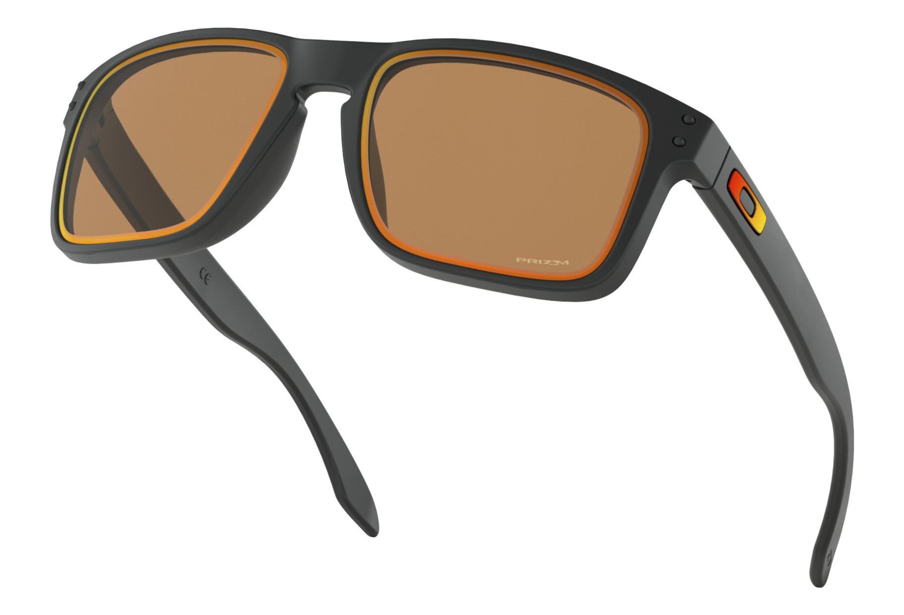 612deb532b Oakley Sunglasses Holbrook Fire and Ice Collection Matte Black   Prizm  Bronze   Ref. OO9102