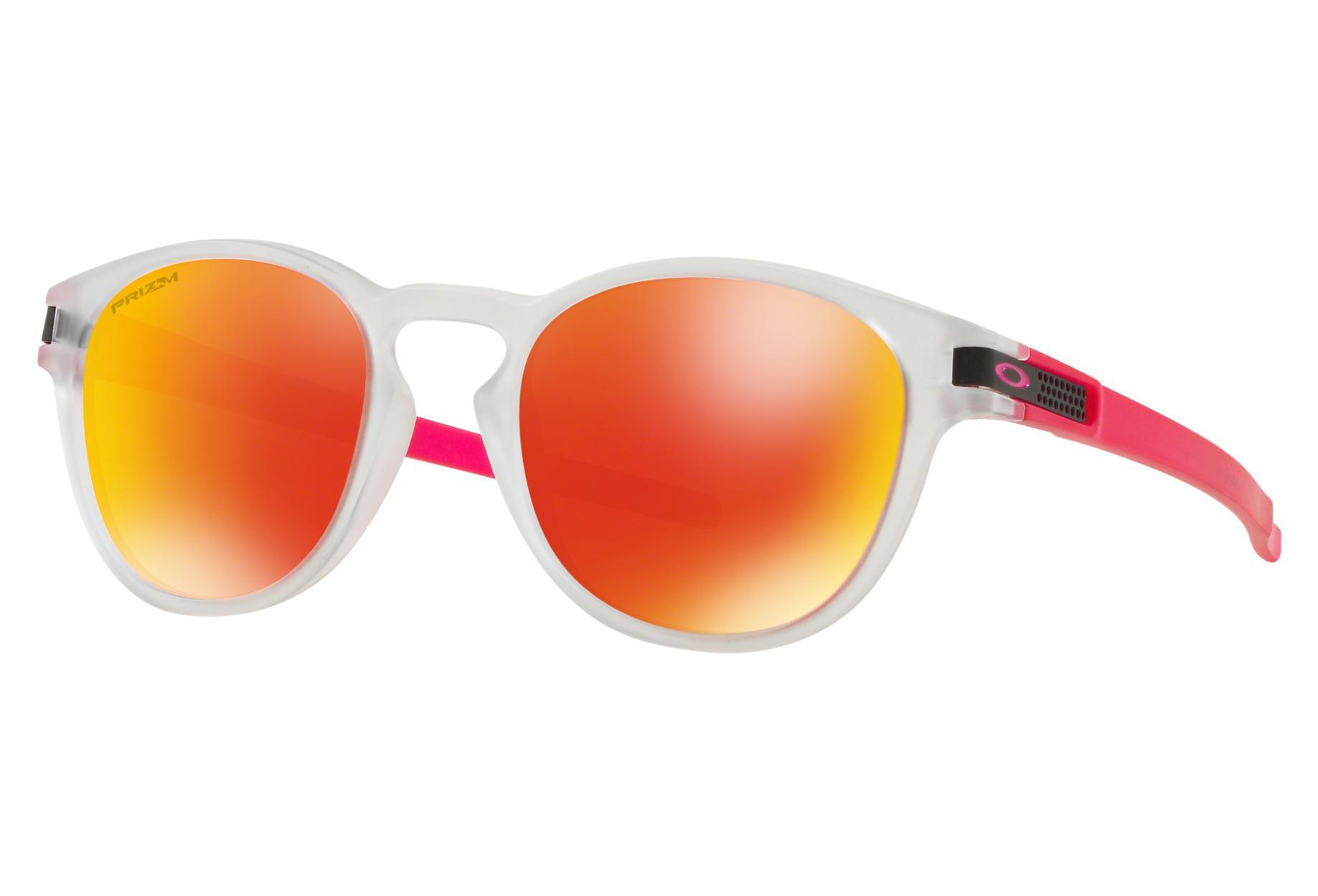 Oakley Sunglasses Latch Crystal Pop Matte Clear   Prizm Ruby   Ref.  OO9265-4753 508f2434970b