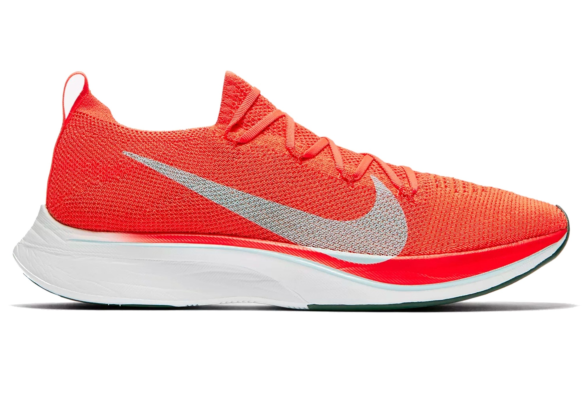 278ca2f5e0d7 Nike Shoes VaporFly 4 Flyknit Grey Red Unisex