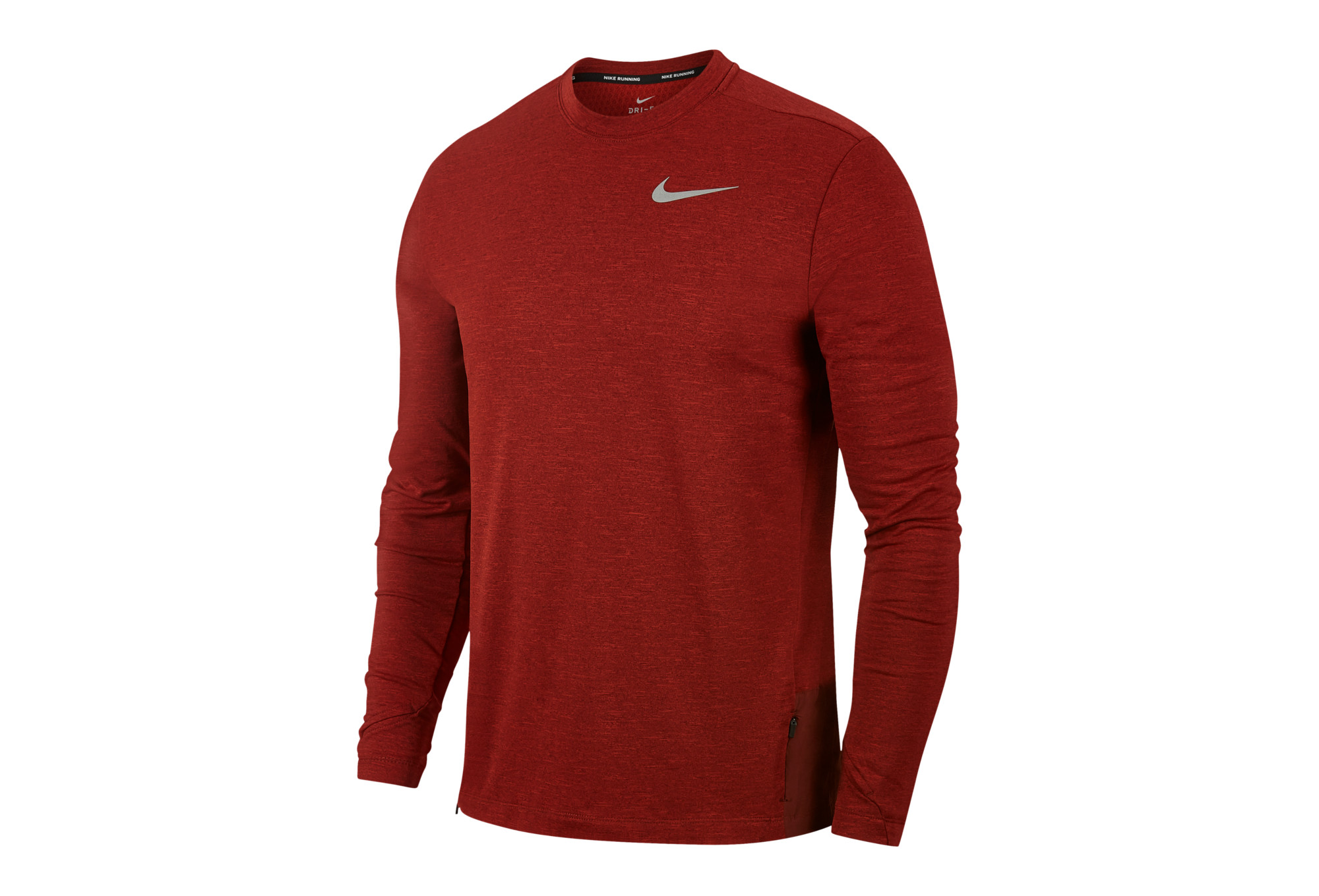 e264e926a8c72 Maillot Manches Longues Nike Therma Sphere Element Rouge   Alltricks.fr