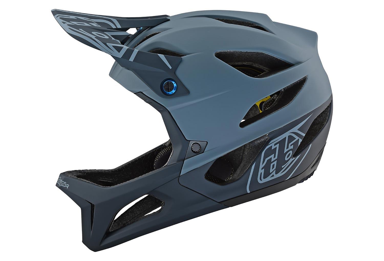 Troy Lee Designs Helmet >> Troy Lee Designs Stage Stealth Full Face Helmet Matte Grey