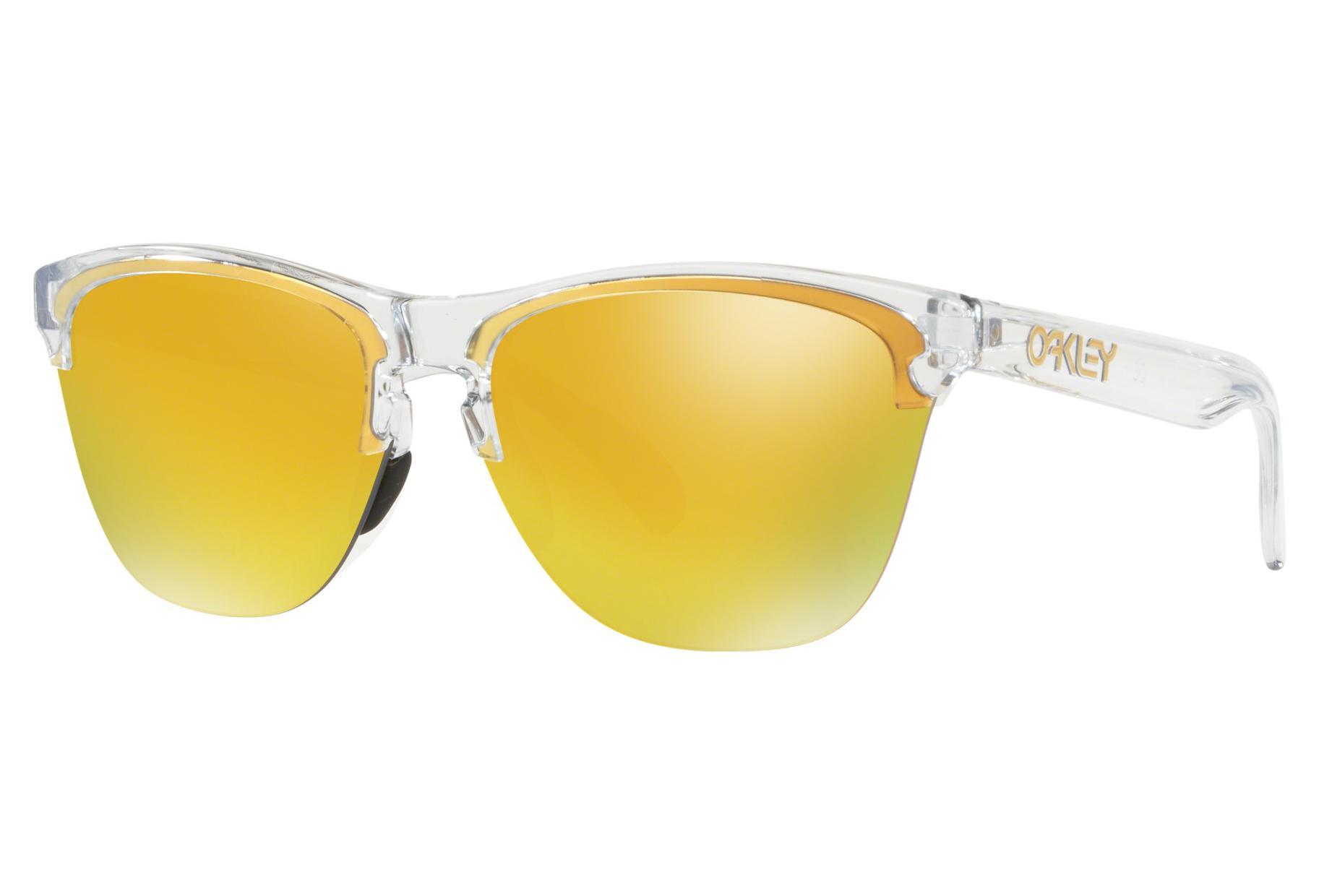 6d3d85842e Oakley Frogskins Lite Sunglasses Polished Clear   24K Iridium   Ref.  OO9374-1363