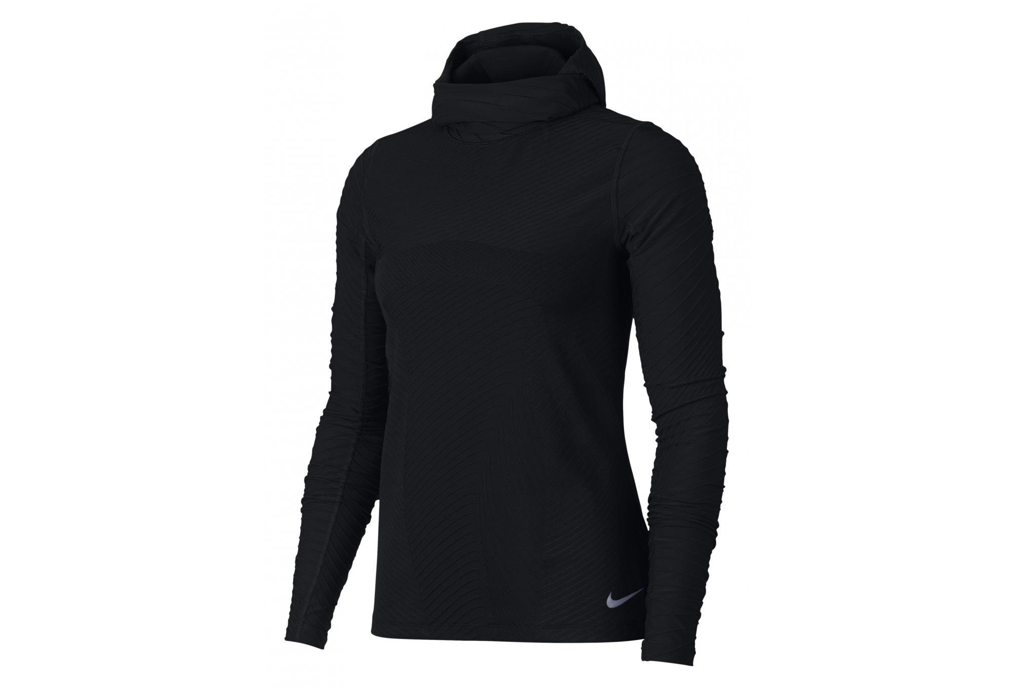 c56ff7eb370bf Nike Element Women's Hooded Long Sleeves Jersey Black | Alltricks.com