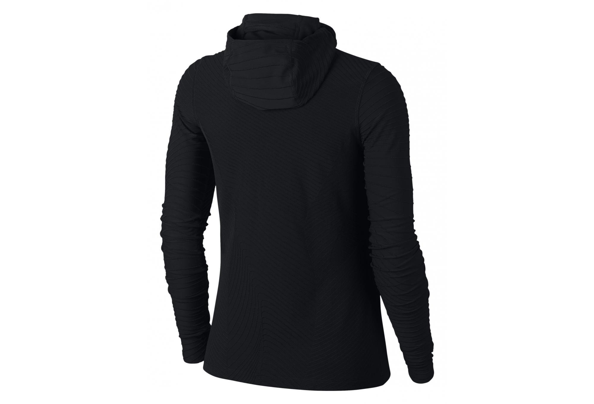 0c310583194 Nike Element Women s Hooded Long Sleeves Jersey Black