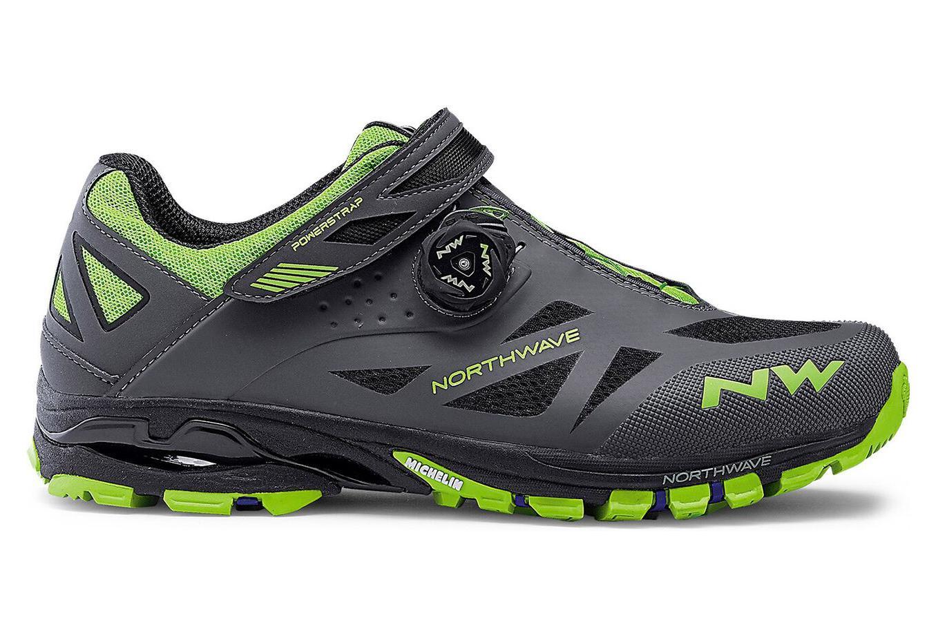 526e2c7e12a Chaussures VTT Northwave Spider Plus 2 Anthracite Vert