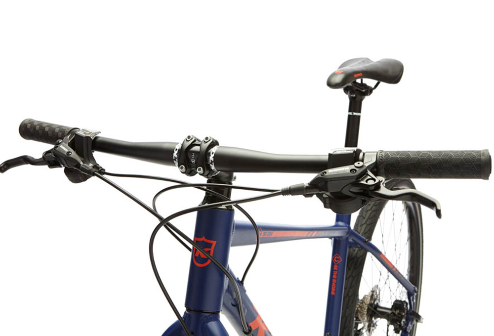 Kona Big Dew City Bike Shimano Alivio/Acera 9S Dark Blue Red 2018