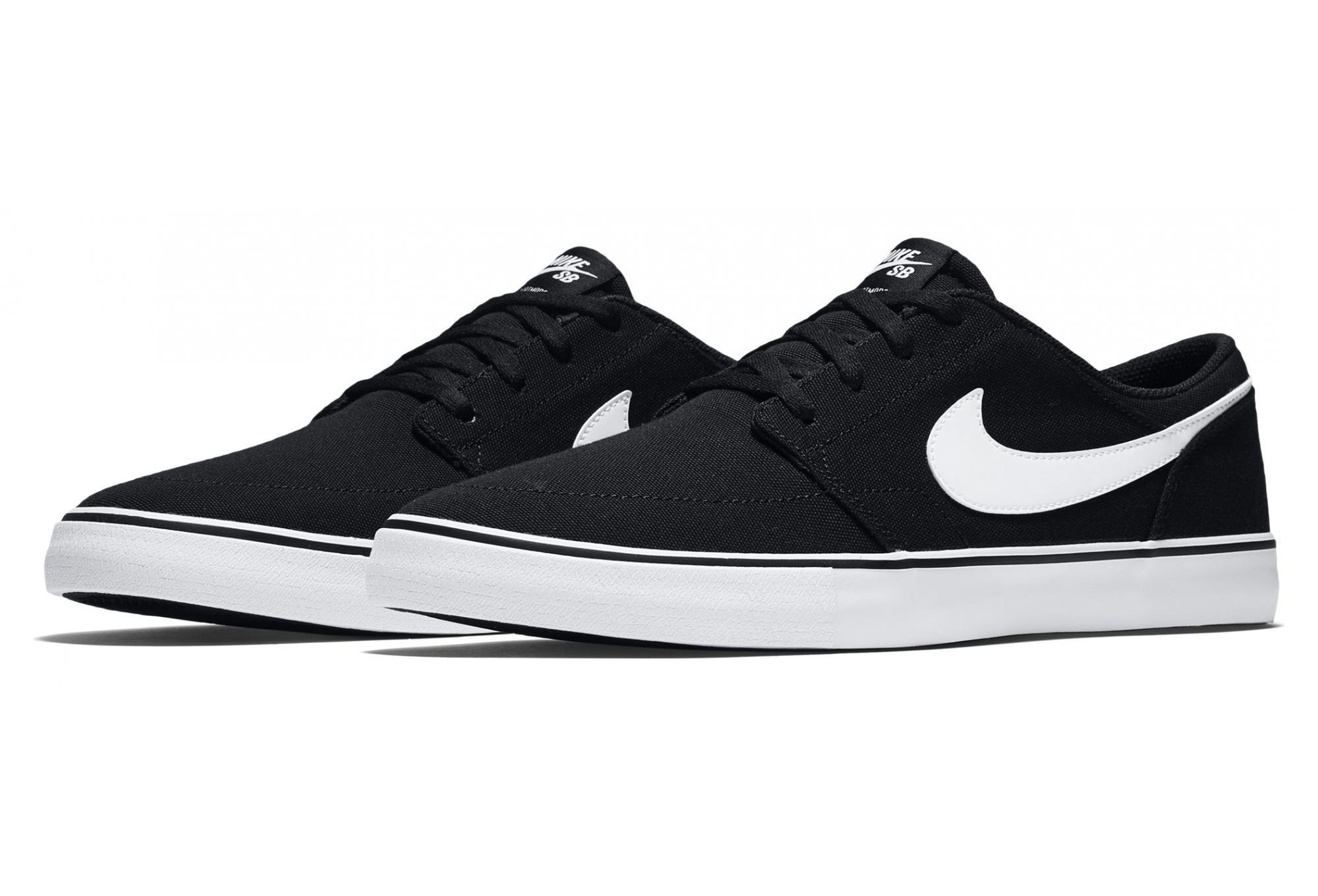 Nike SB Solarsoft Portmore II Shoes Black White