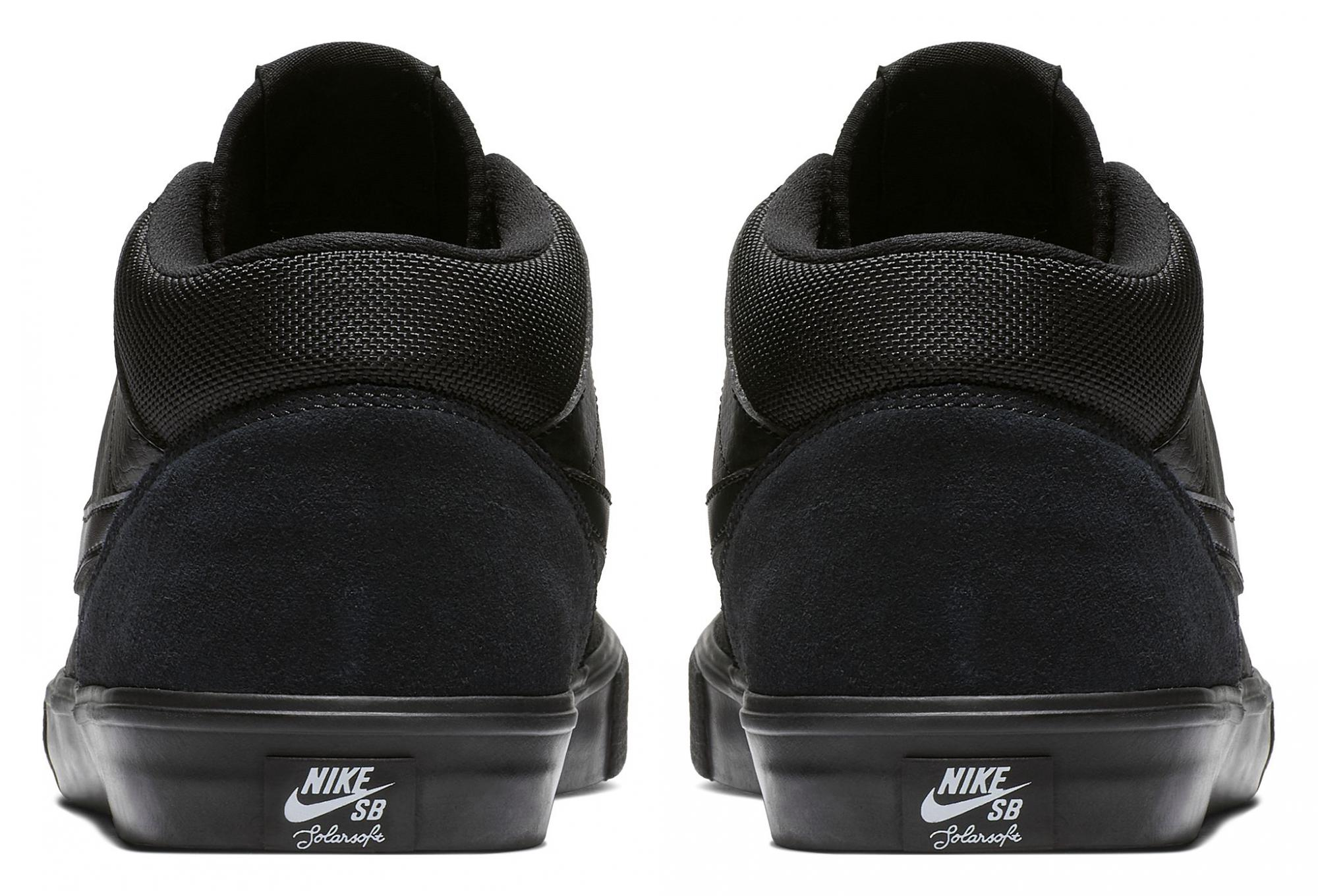 Nike SB Solarsoft Portmore II Mid Shoes Black