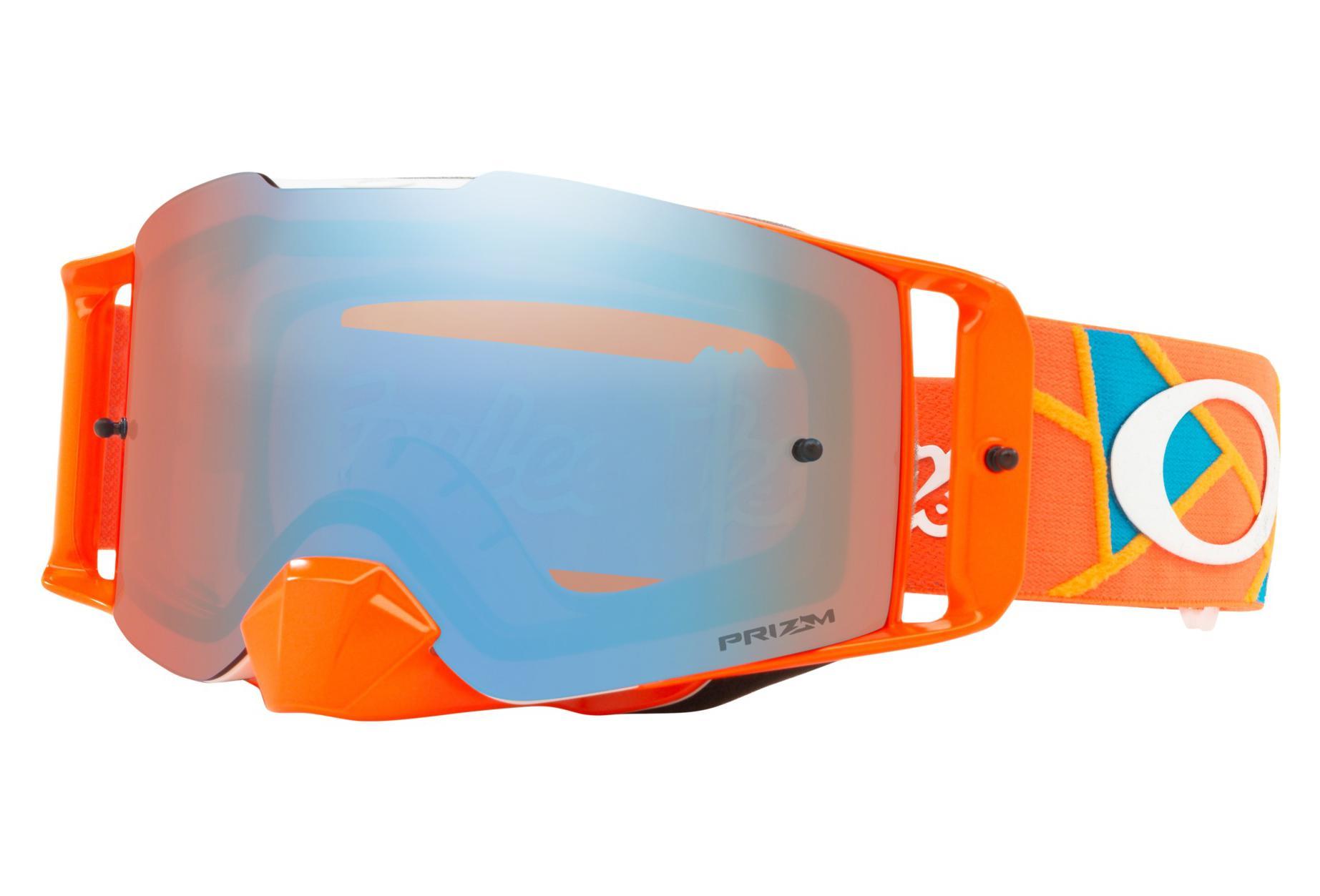853ac38726b9 Oakley Front Line MX Troy Lee Designs Series   Troy Lee Design Metric Red  Orange   Prizm Mx Sapphire   Ref. OO7087-28