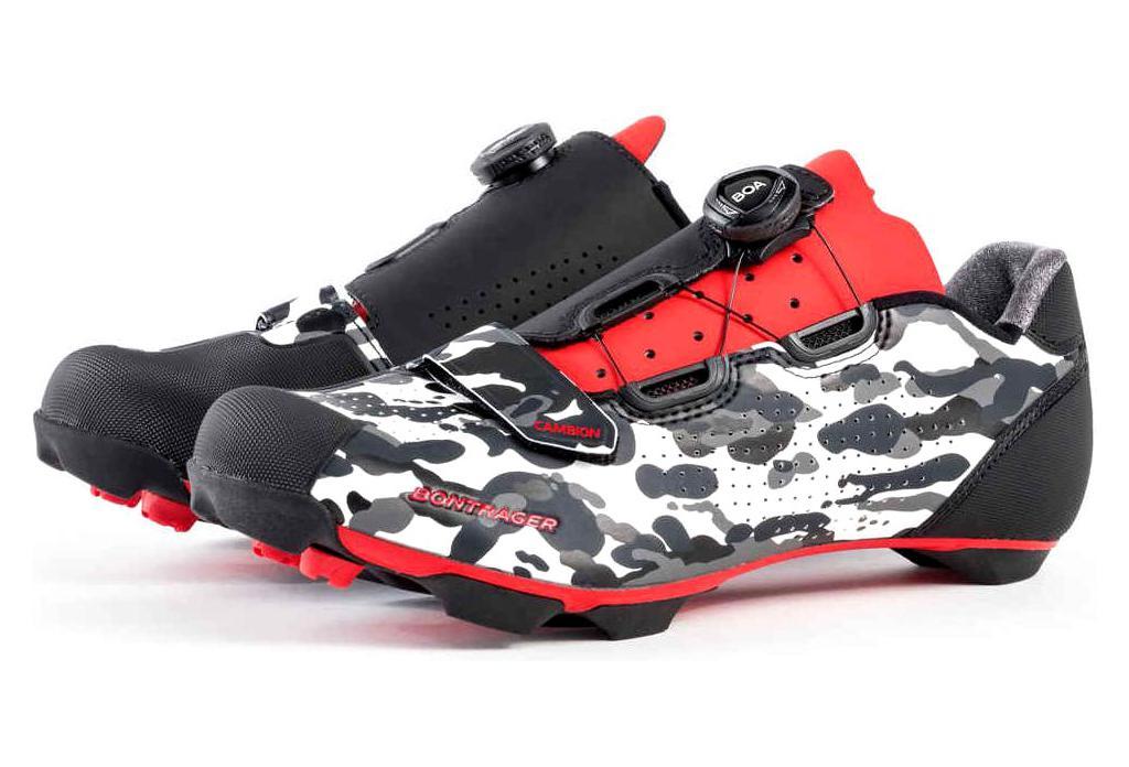 best sneakers 52a26 51e69 Bontrager CAMBION MTB-Schuhe Camo / Grau / Rot