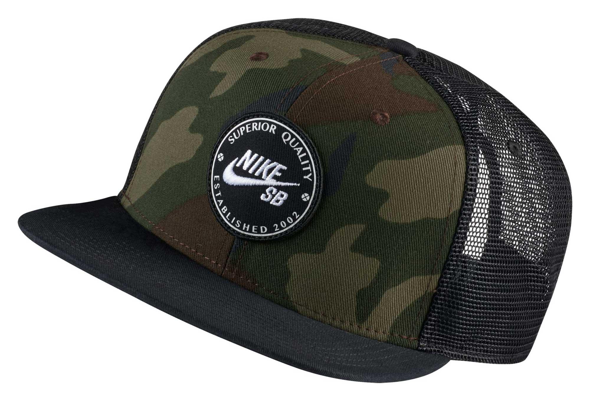 Casquette Nike SB Trucker Hat Camo Noir