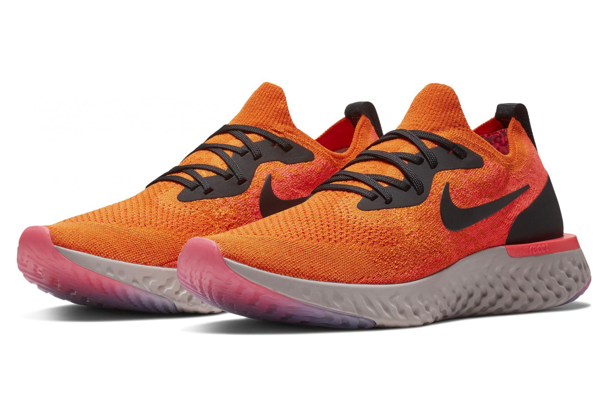 cee5d5dd5e0 Zapatillas Nike Epic React Flyknit para Hombre Naranja   Rosa